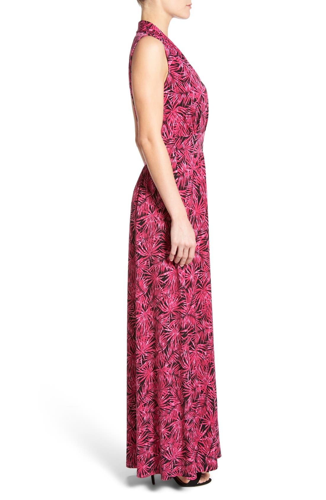 Alternate Image 3  - MICHAEL Michael Kors Print Jersey Side Slit Maxi Dress