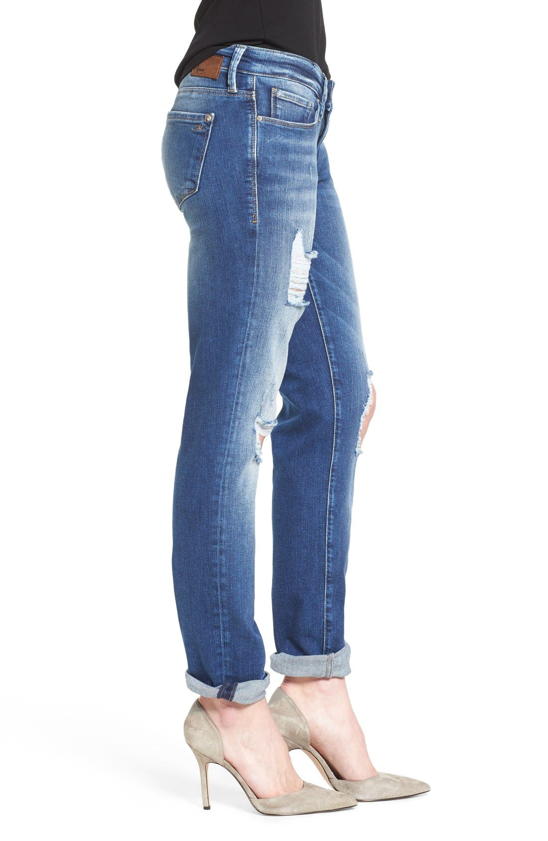 Alternate Image 3  - Mavi Jeans 'Emma' Ripped Knee Boyfriend Slim Jeans (Vintage)