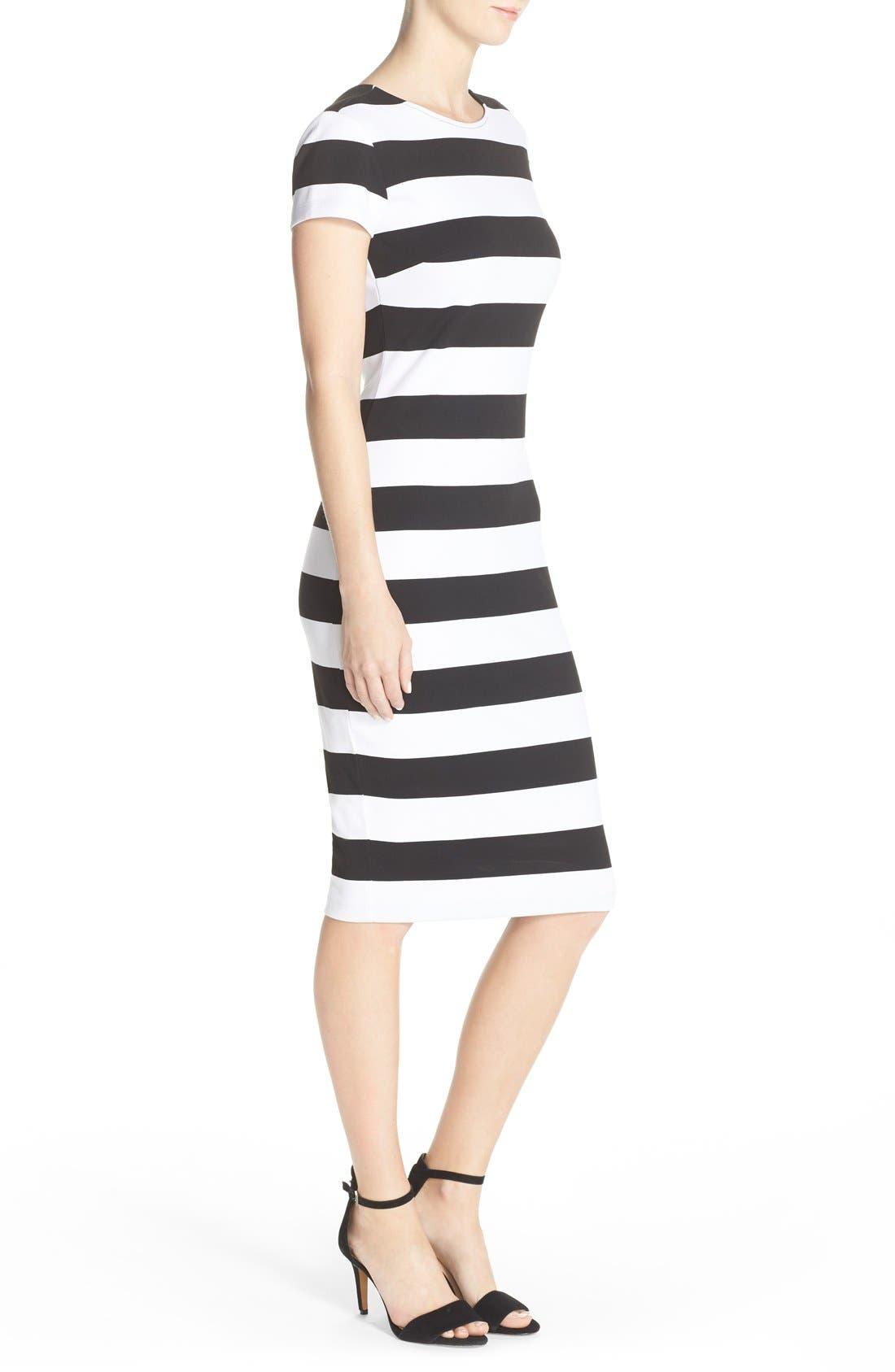 Alternate Image 3  - Felicity & Coco Stripe Midi Sheath Dress (Nordstrom Exclusive)