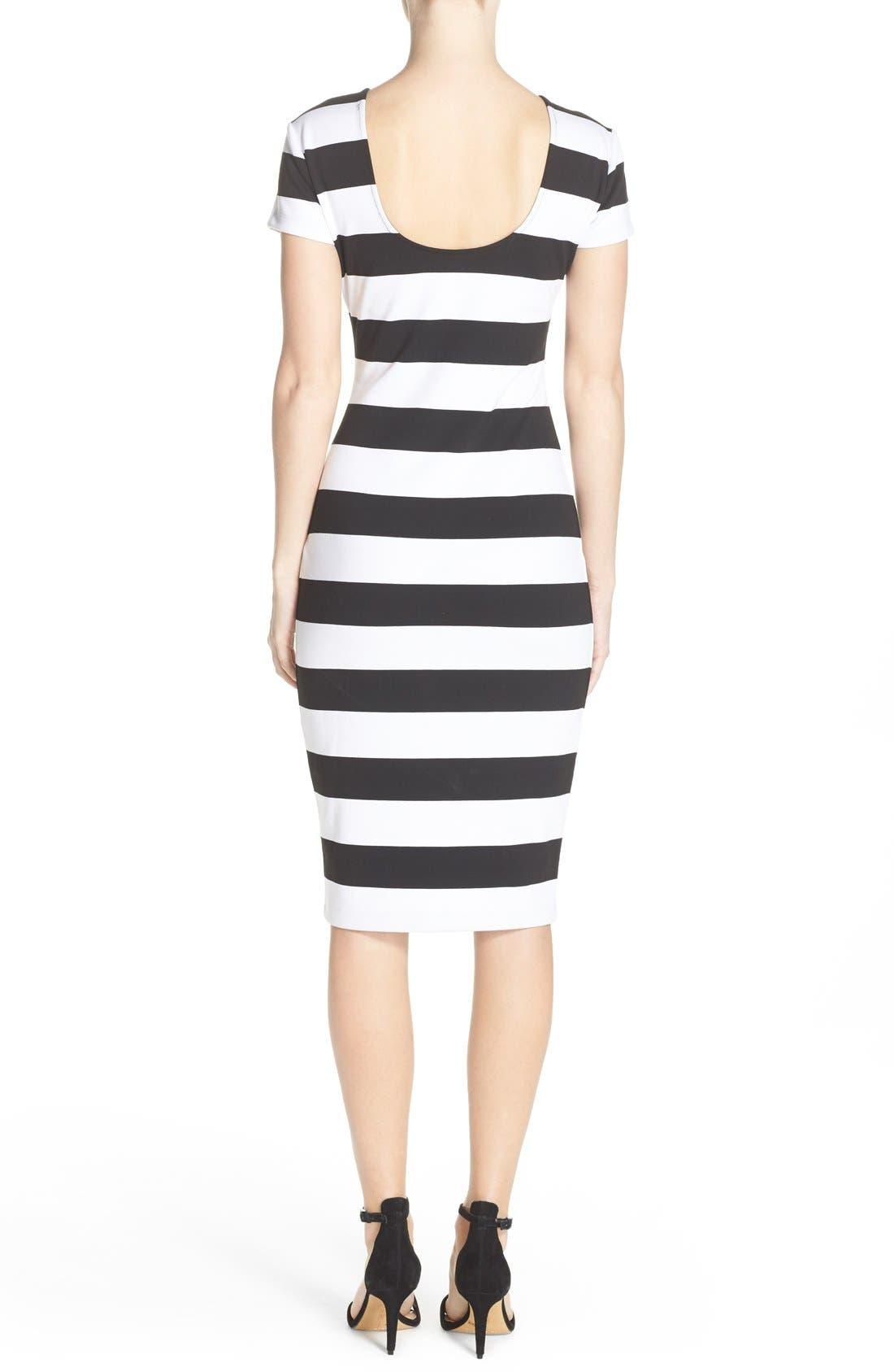 Alternate Image 2  - Felicity & Coco Stripe Midi Sheath Dress (Nordstrom Exclusive)
