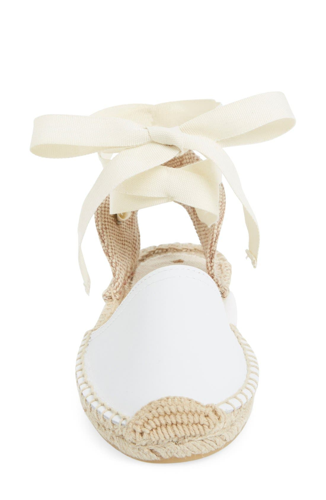 Espadrille Sandal,                             Alternate thumbnail 3, color,                             White