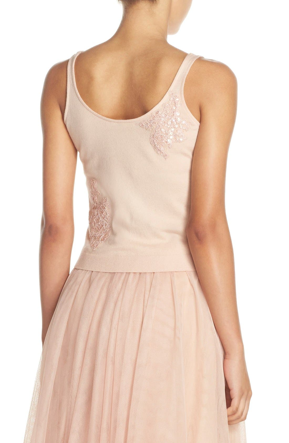 Cora Lace Detail Tank,                             Alternate thumbnail 4, color,                             Blossom