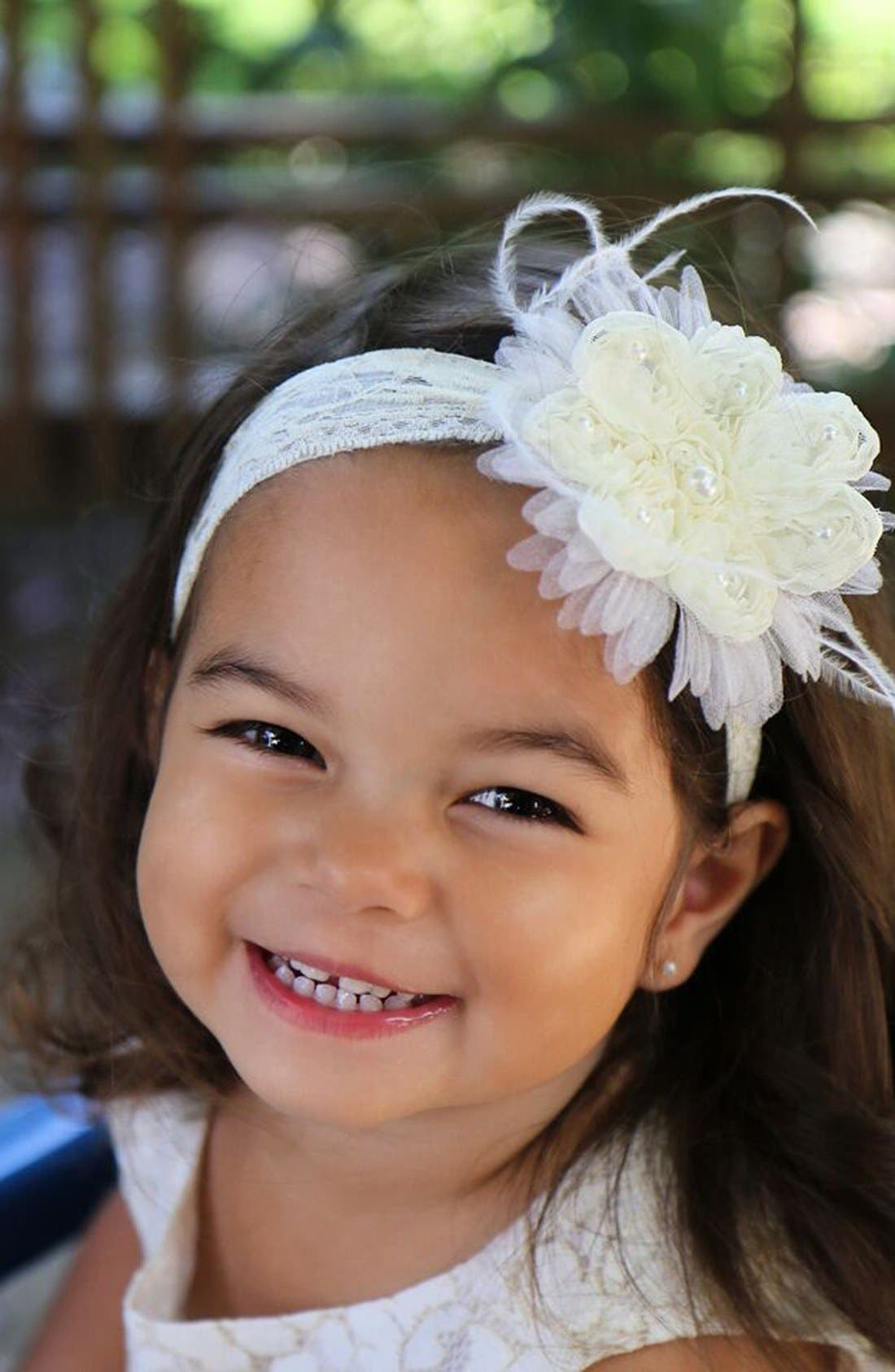 Alternate Image 2  - PLH Bows & Laces Headband (Baby Girls & Toddler Girls)