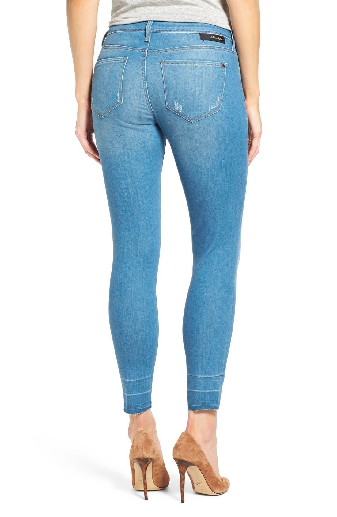 Alternate Image 2  - Mavi Jeans Gold 'Alexa' Stretch Ankle Skinny Jeans