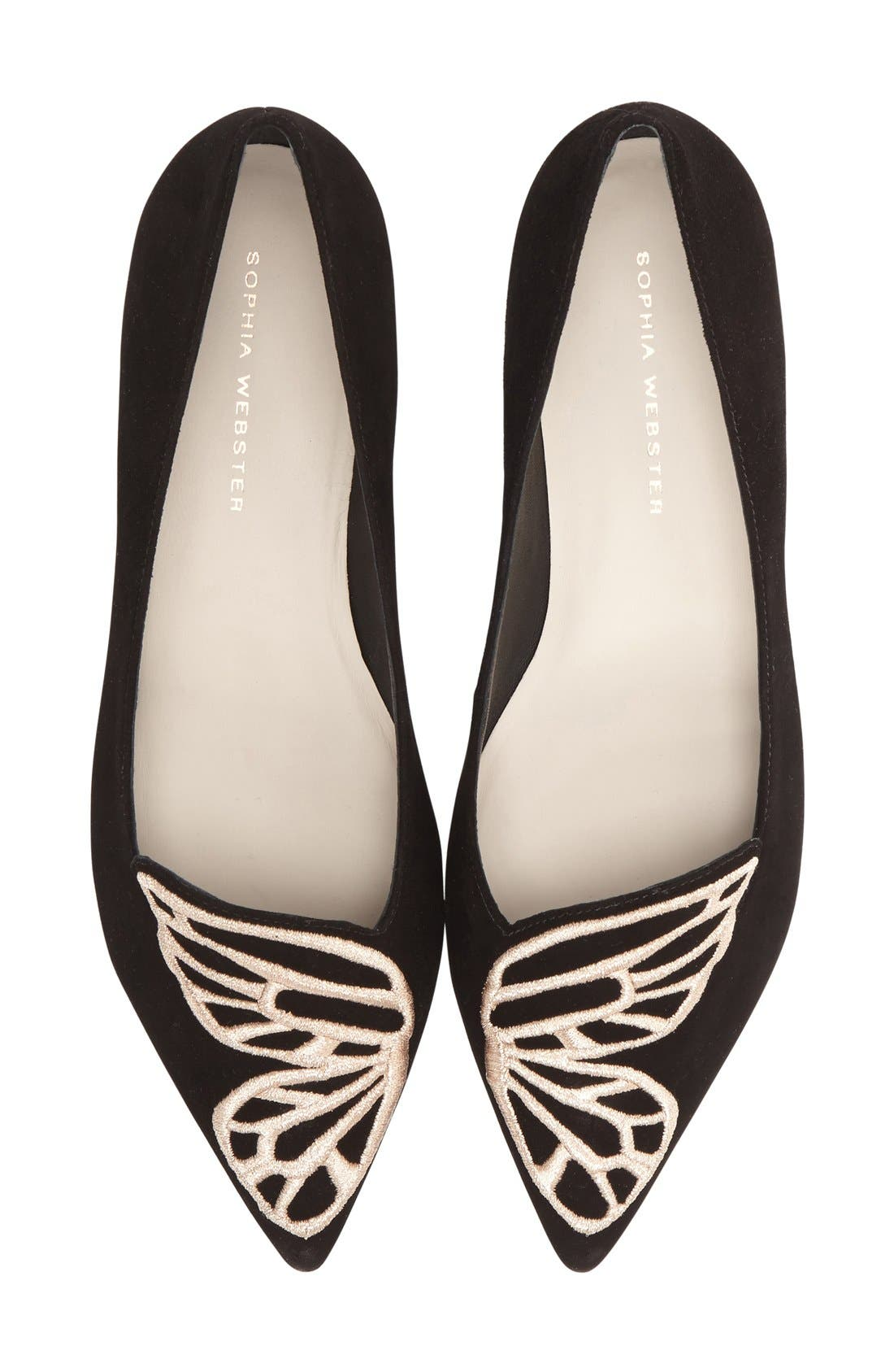 Alternate Image 1 Selected - Sophia Webster 'Bibi Butterfly' Pointy Toe Flat (Women)