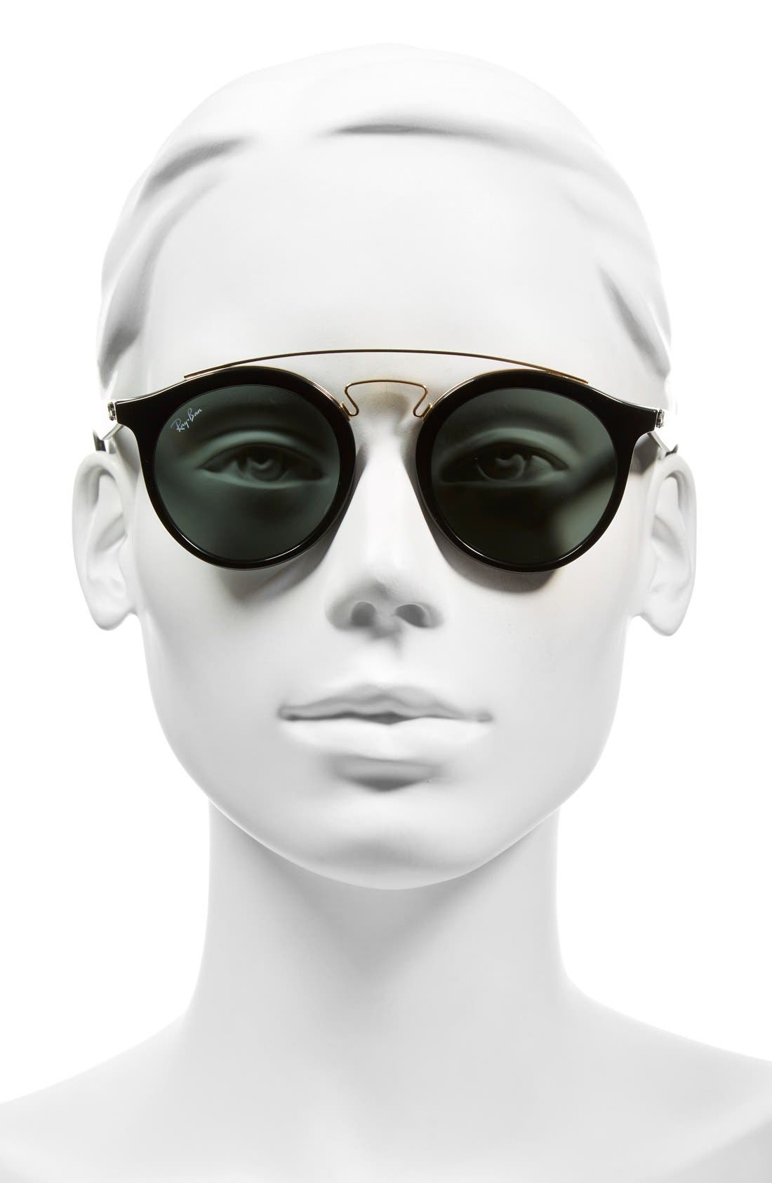 Highstreet 46mm Sunglasses,                             Alternate thumbnail 2, color,                             Black