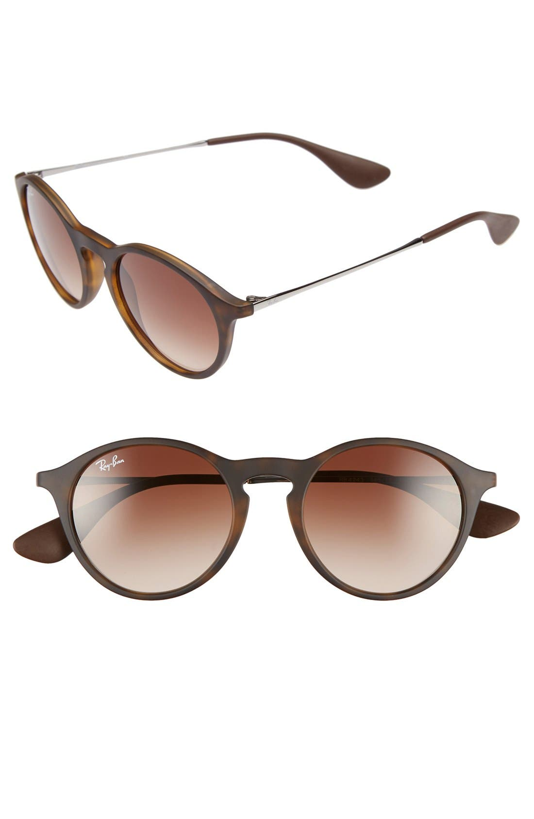 Alternate Image 1 Selected - Ray-Ban 'Youngster' 49mm Round Sunglasses