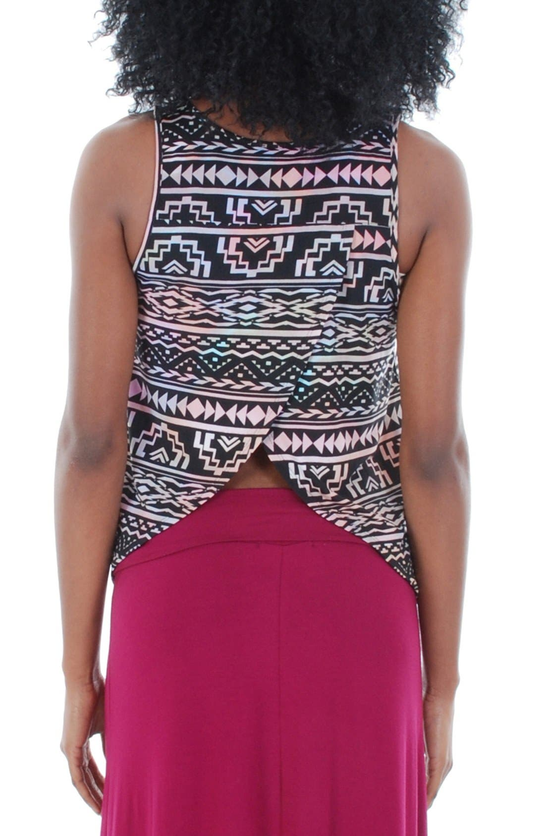 'Brisa' Maternity Tank,                             Alternate thumbnail 2, color,                             Tribal Pink