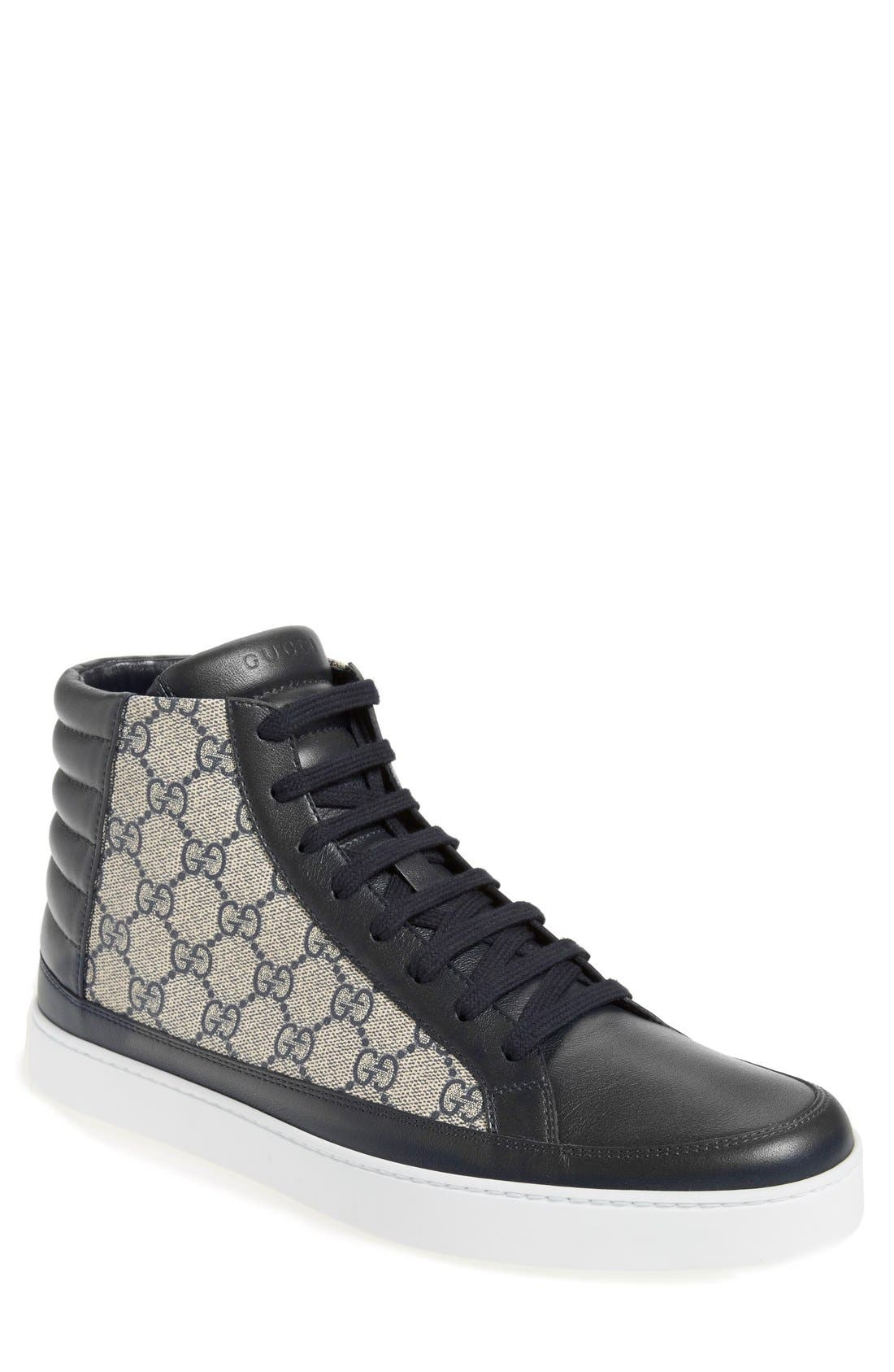gucci shoes black snake. gucci \u0027common\u0027 high top sneaker shoes black snake