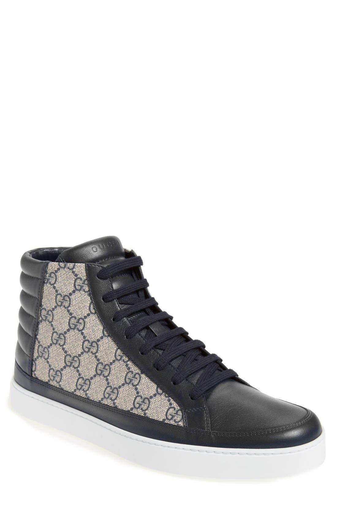 gucci shoes for men bee. gucci \u0027common\u0027 high top sneaker (men) shoes for men bee