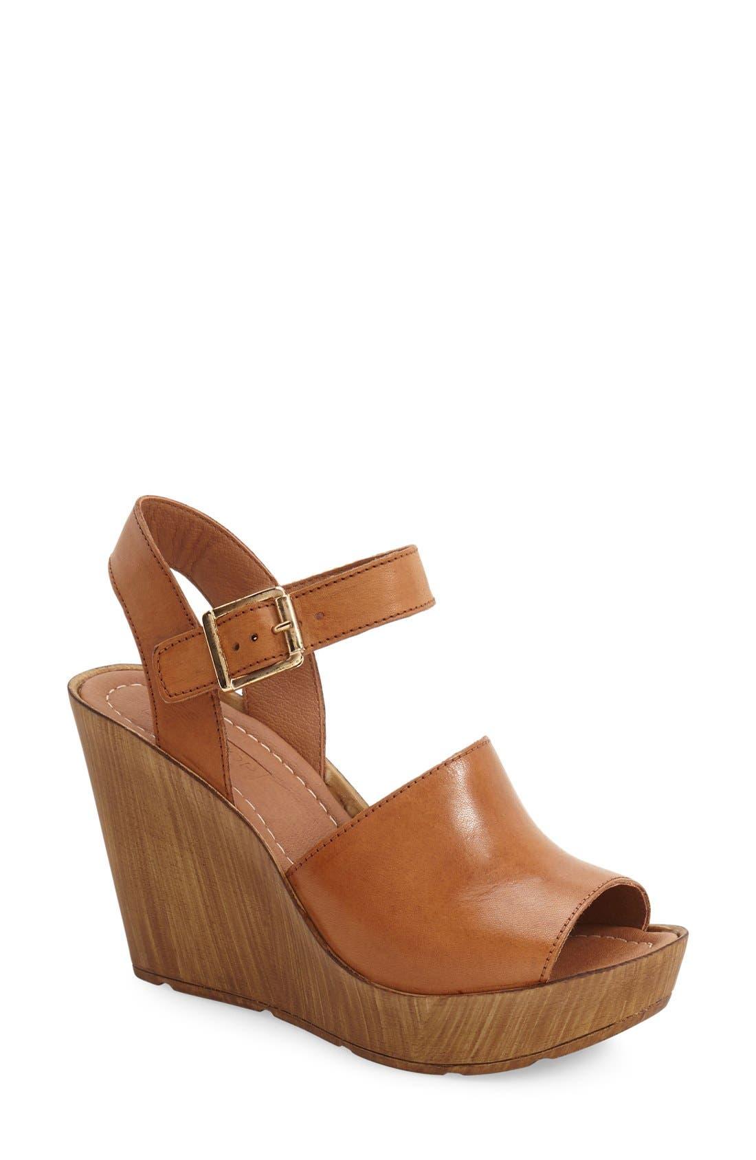 Topshop 'Willow' Platform Wedge Sandal (Women)