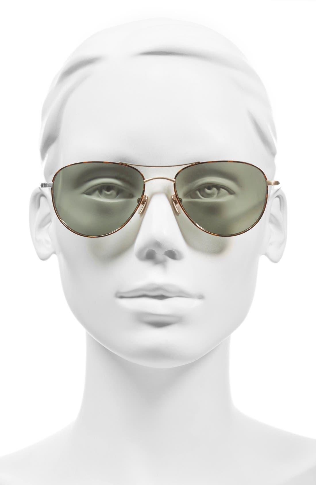 Alternate Image 2  - SALT 'Meadows' 54mm Polarized Aviator Sunglasses