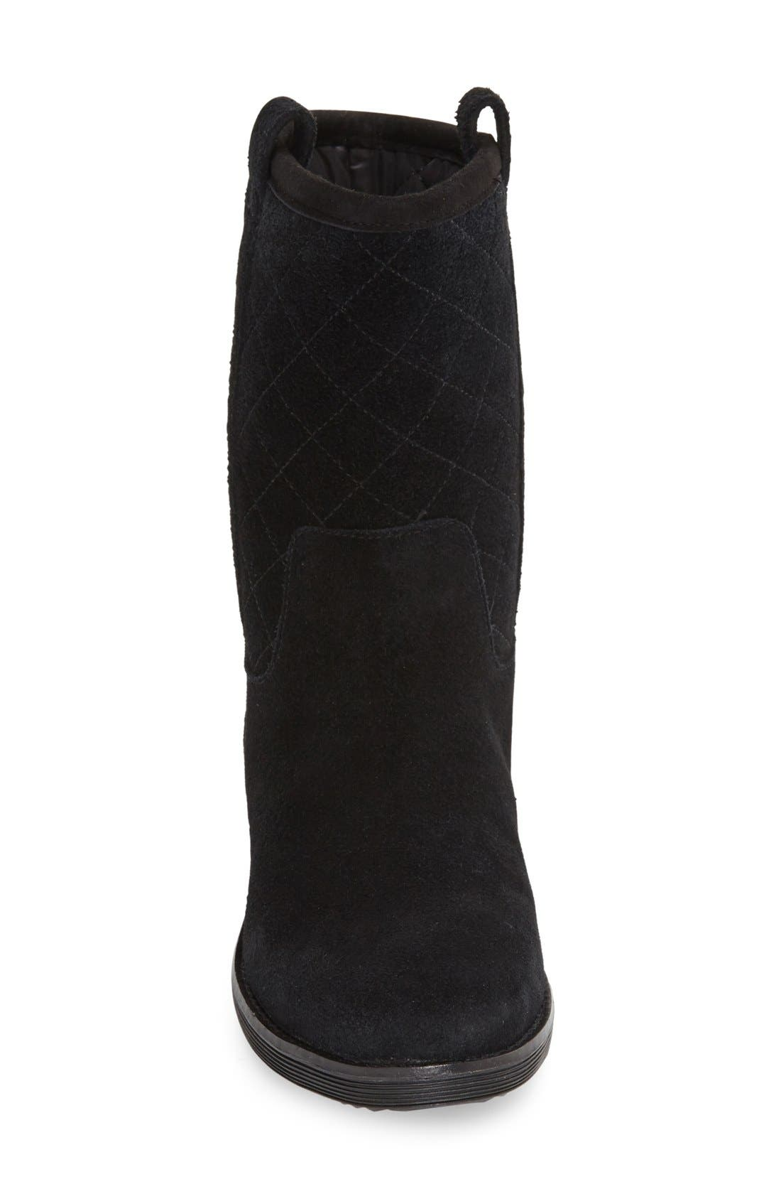 'Roper' Waterproof Boot,                             Alternate thumbnail 3, color,                             Black Suede