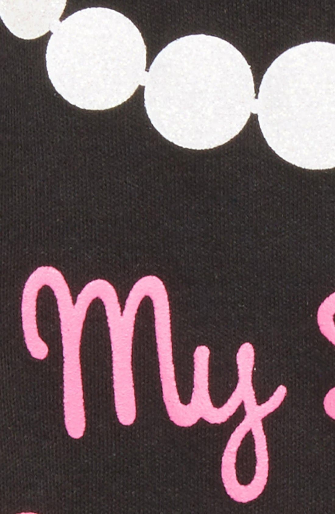 Alternate Image 2  - Sara Kety Baby & Kids 'Black Dress' Tutu Bodysuit (Baby Girls)