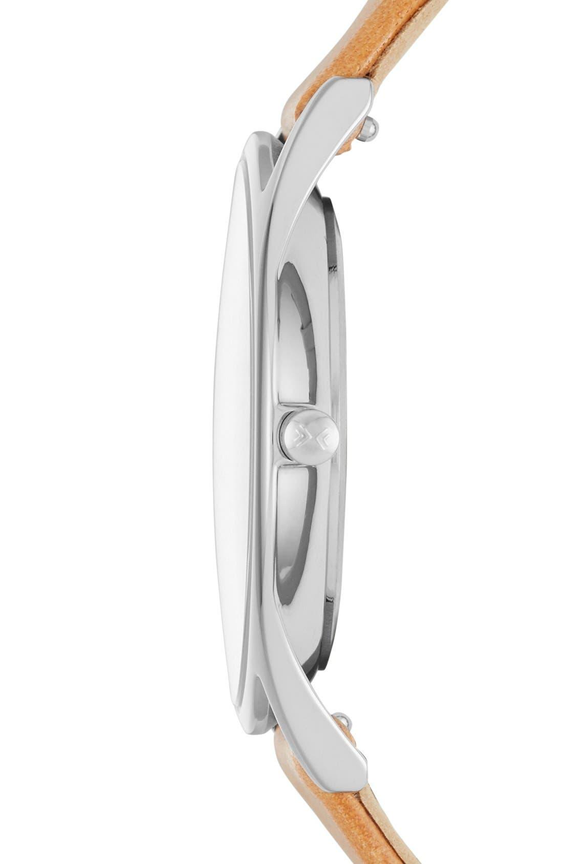 Alternate Image 2  - Skagen 'Holst' Leather Strap Watch, 34mm