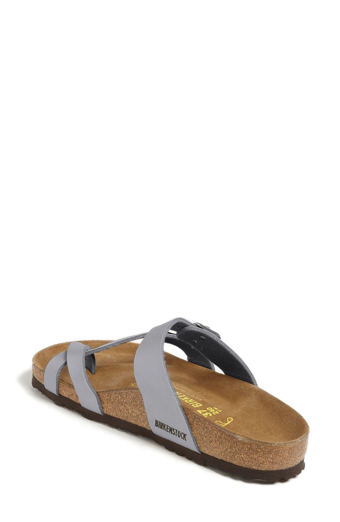 'Mayari' Birko-Flor<sup>™</sup> Sandal,                             Alternate thumbnail 2, color,                             Silver