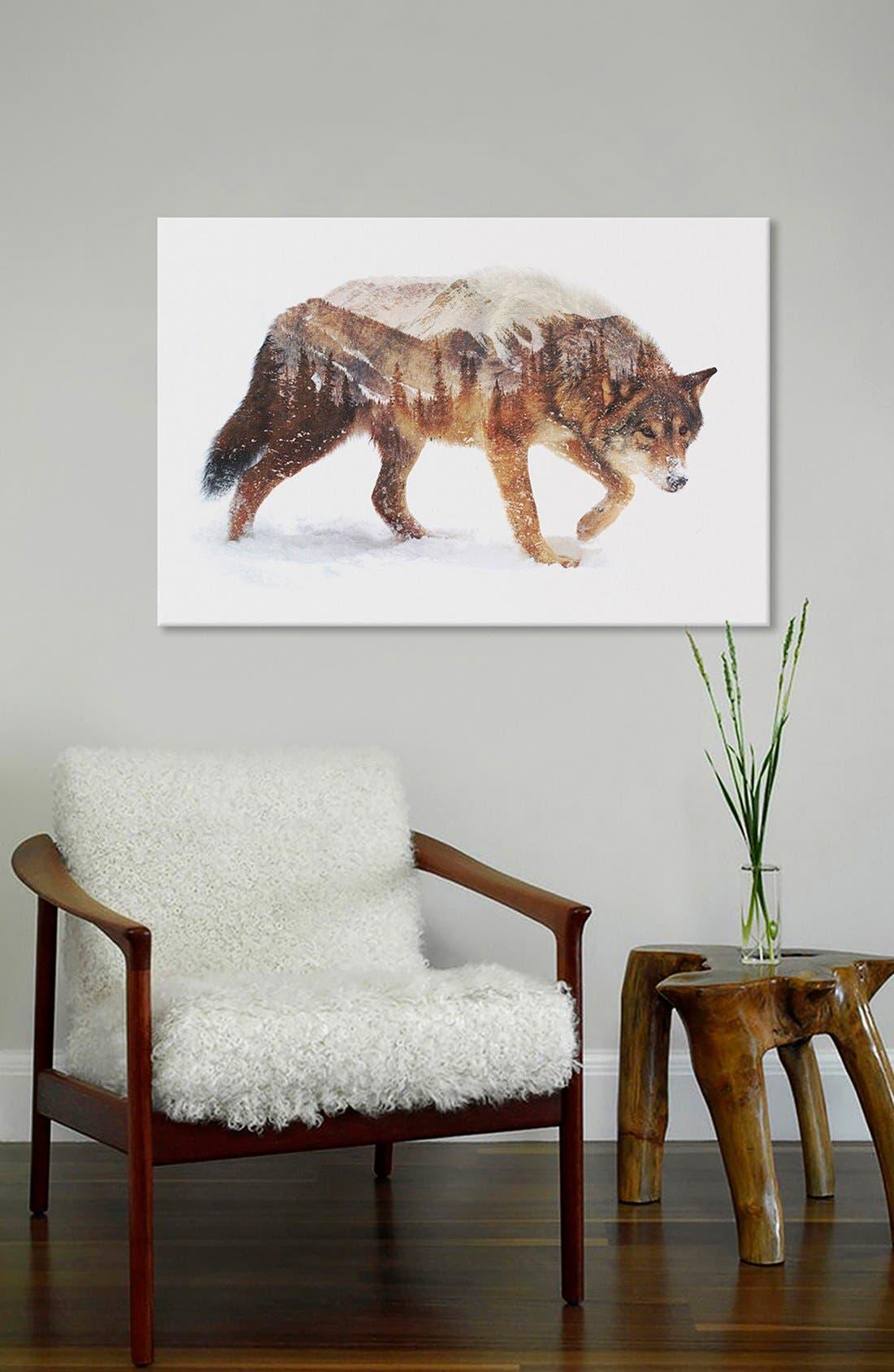 'Arctic Wolf' Fine Art Print,                             Alternate thumbnail 2, color,                             Brown