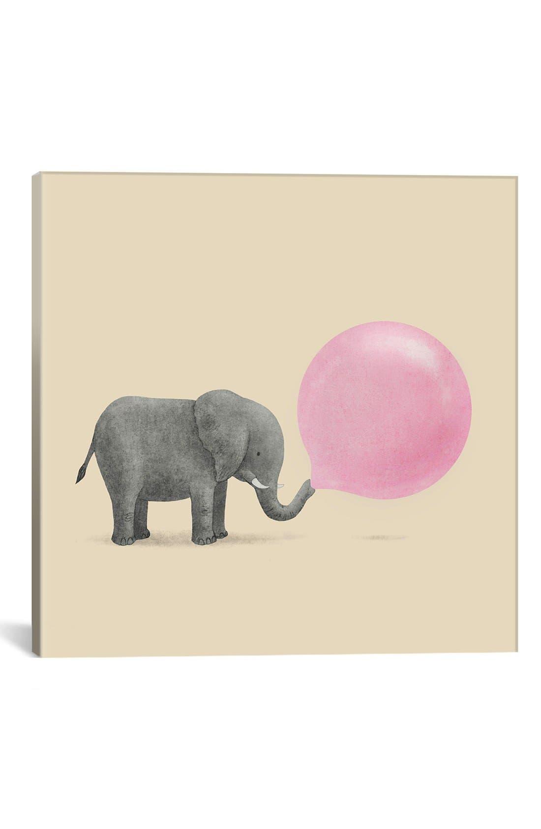 'Jumbo Bubble Gum' Giclée Print Canvas Art,                             Main thumbnail 1, color,                             Beige