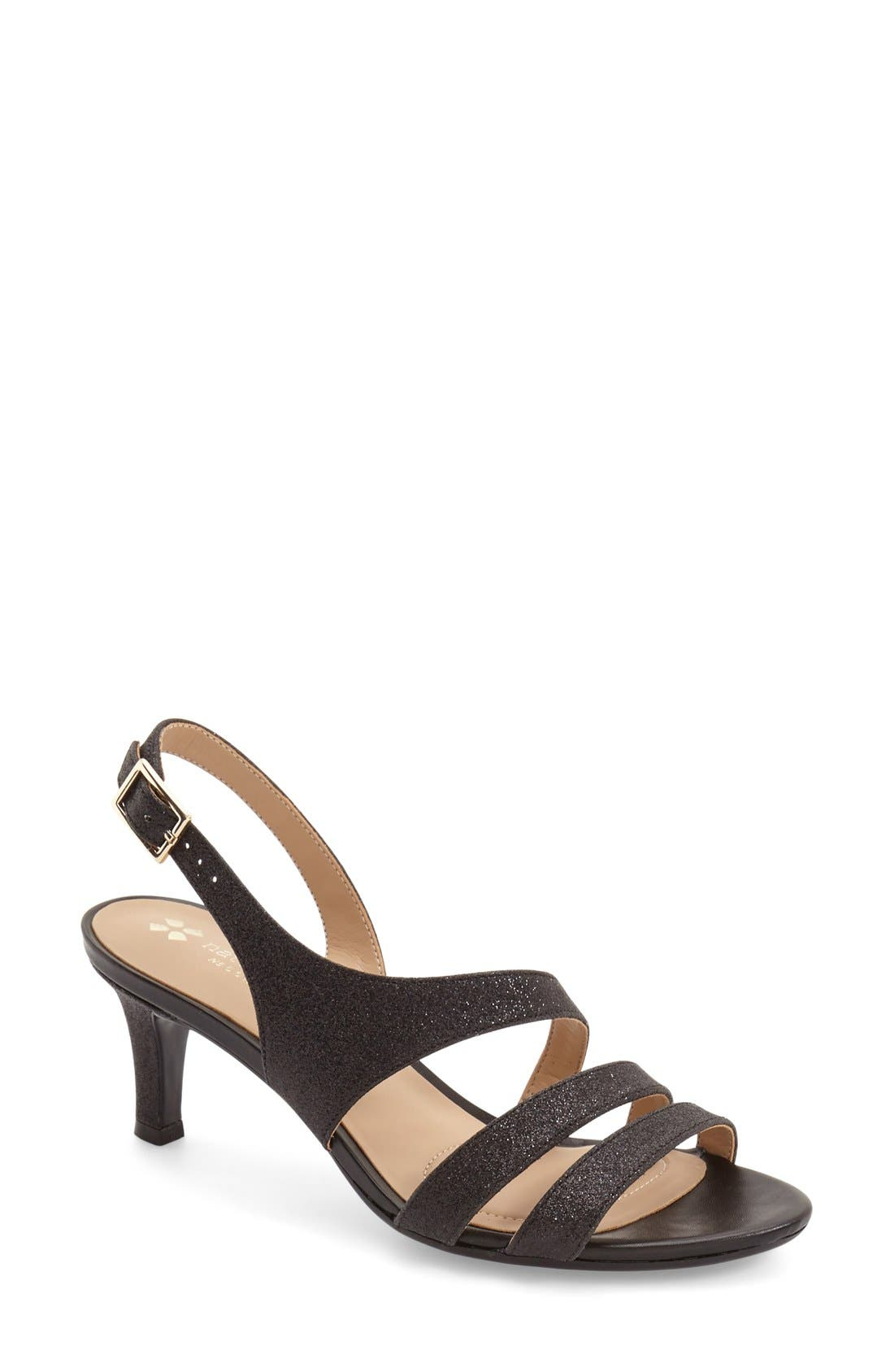 Taimi Sandal,                         Main,                         color, Black Glitter