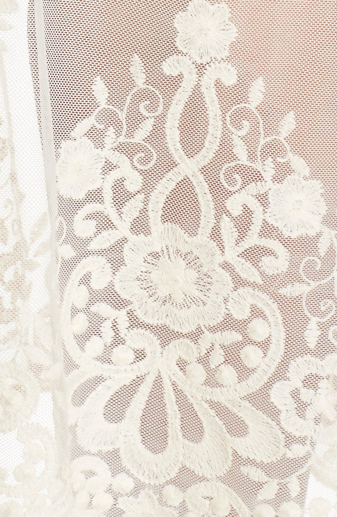 Alternate Image 5  - Elan Lace Cover-Up Cold Shoulder Dress
