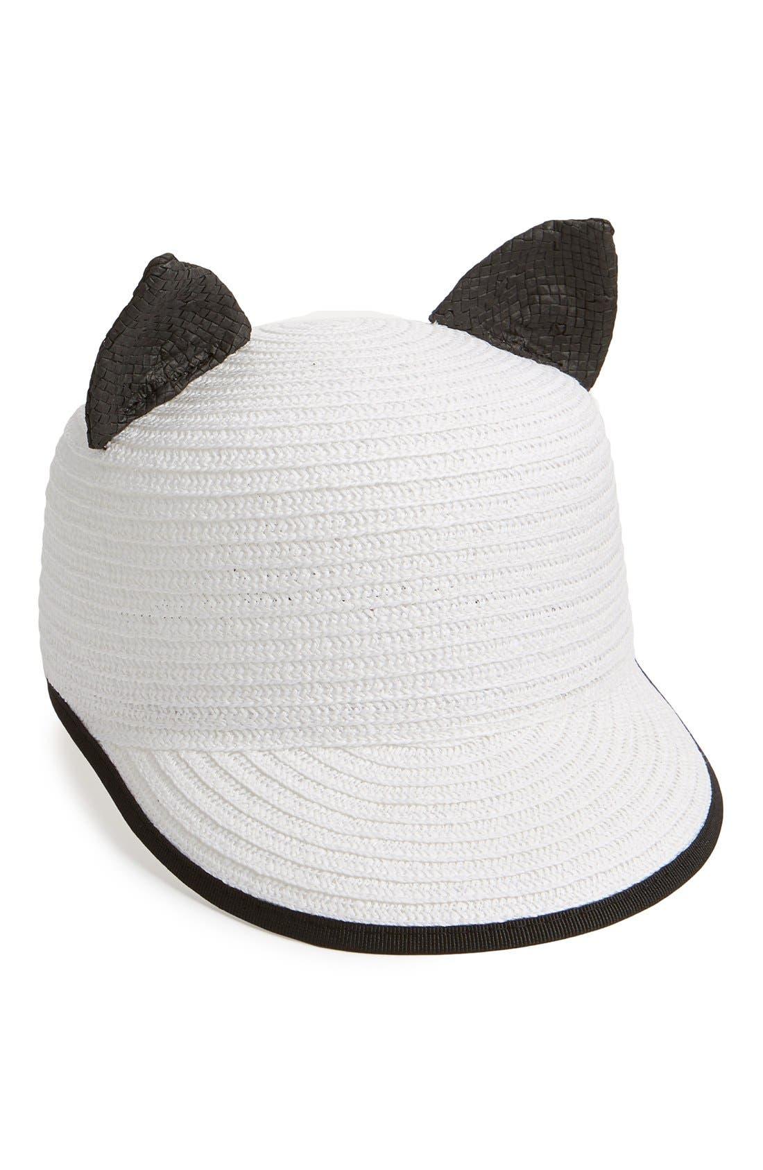 Main Image - Helene Berman 'Contrast Cat' Baseball Cap
