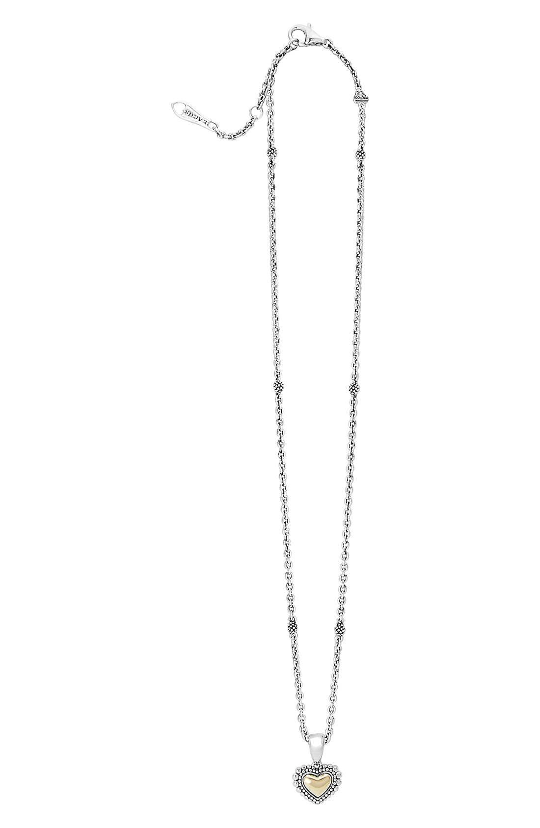 Alternate Image 2  - LAGOS Two-Tone Heart Pendant Necklace