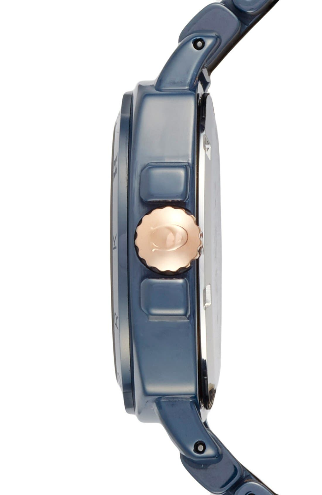 'Boyfriend' Ceramic Bracelet Watch, 34mm,                             Alternate thumbnail 3, color,                             Navy