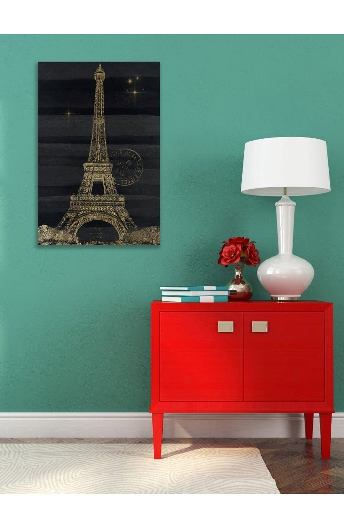 'Eiffel Night' Canvas Wall Art,                             Alternate thumbnail 2, color,                             Black