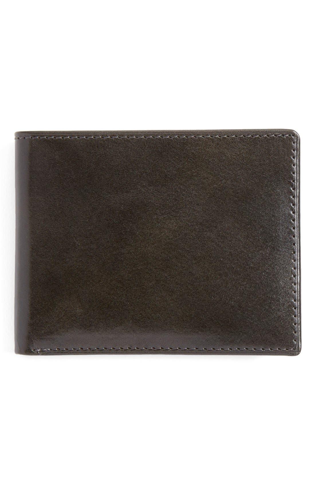 Alternate Image 1 Selected - Johnston & Murphy Slimfold Leather Wallet