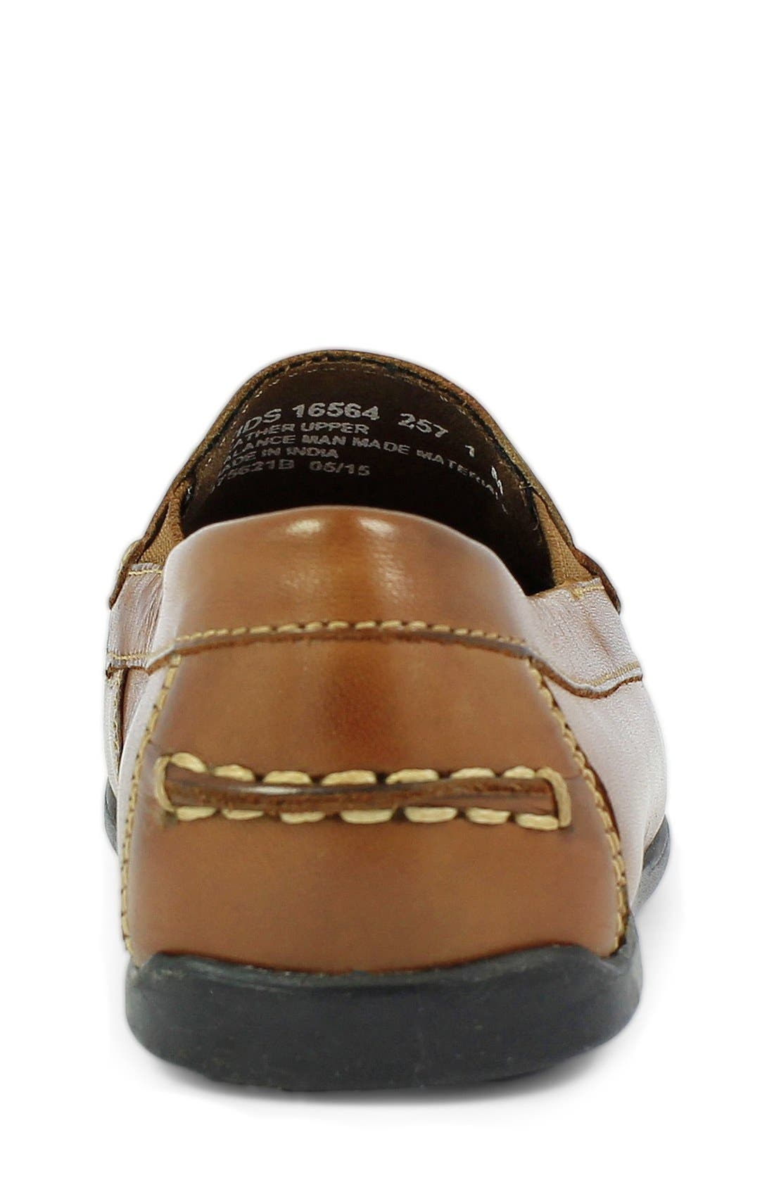 'Jasper - Venetian Jr.' Loafer,                             Alternate thumbnail 5, color,                             Saddle Tan Leather
