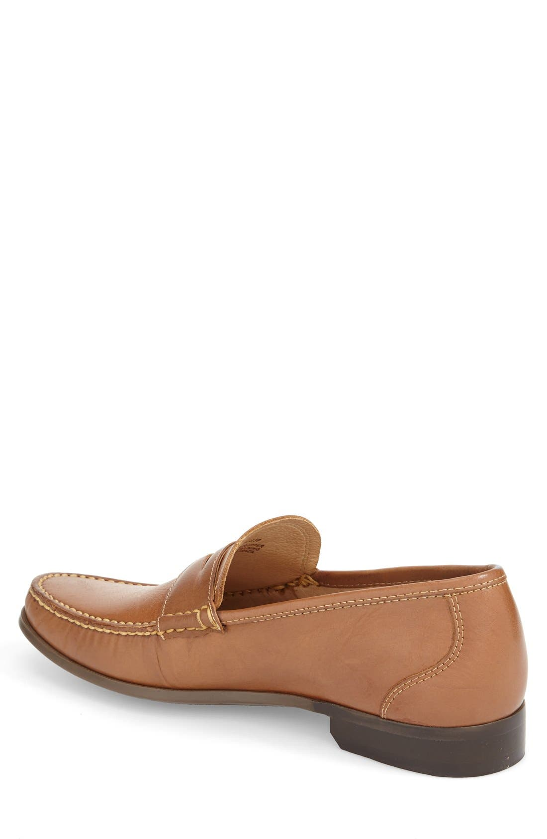 Penny Loafer,                             Alternate thumbnail 2, color,                             Brown Leather