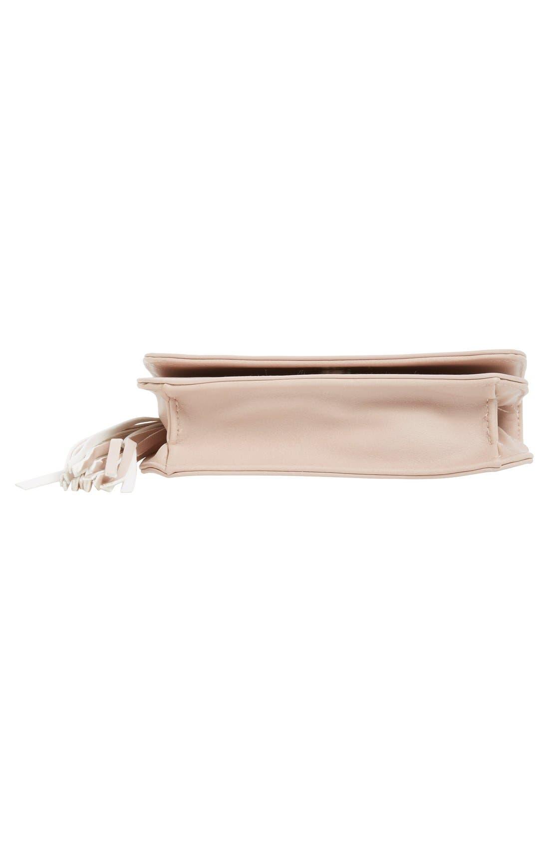 Tassel Crossbody Bag,                             Alternate thumbnail 7, color,                             Blush
