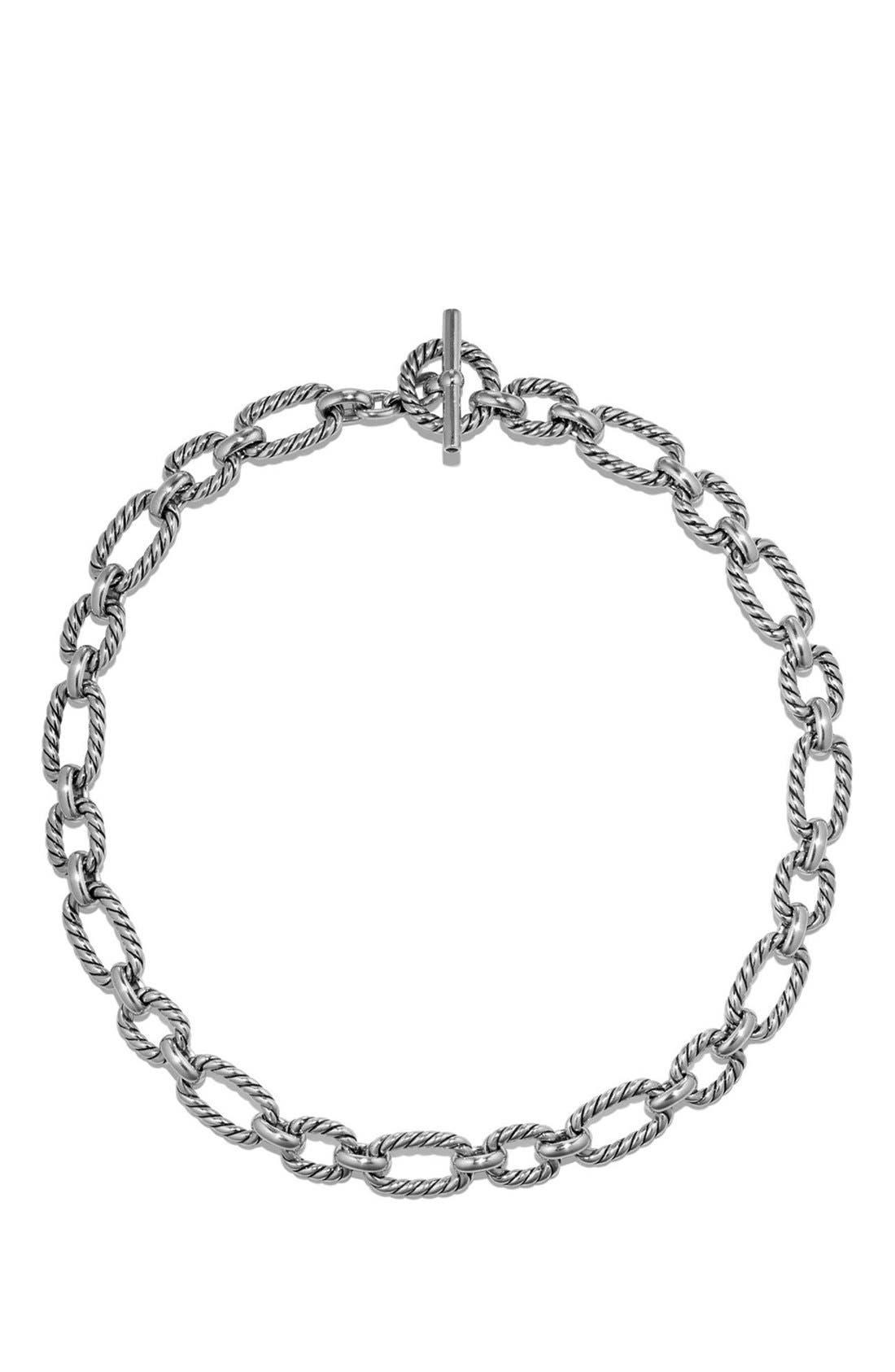 Alternate Image 2  - David Yurman Cushion Link Necklace with Blue Sapphires