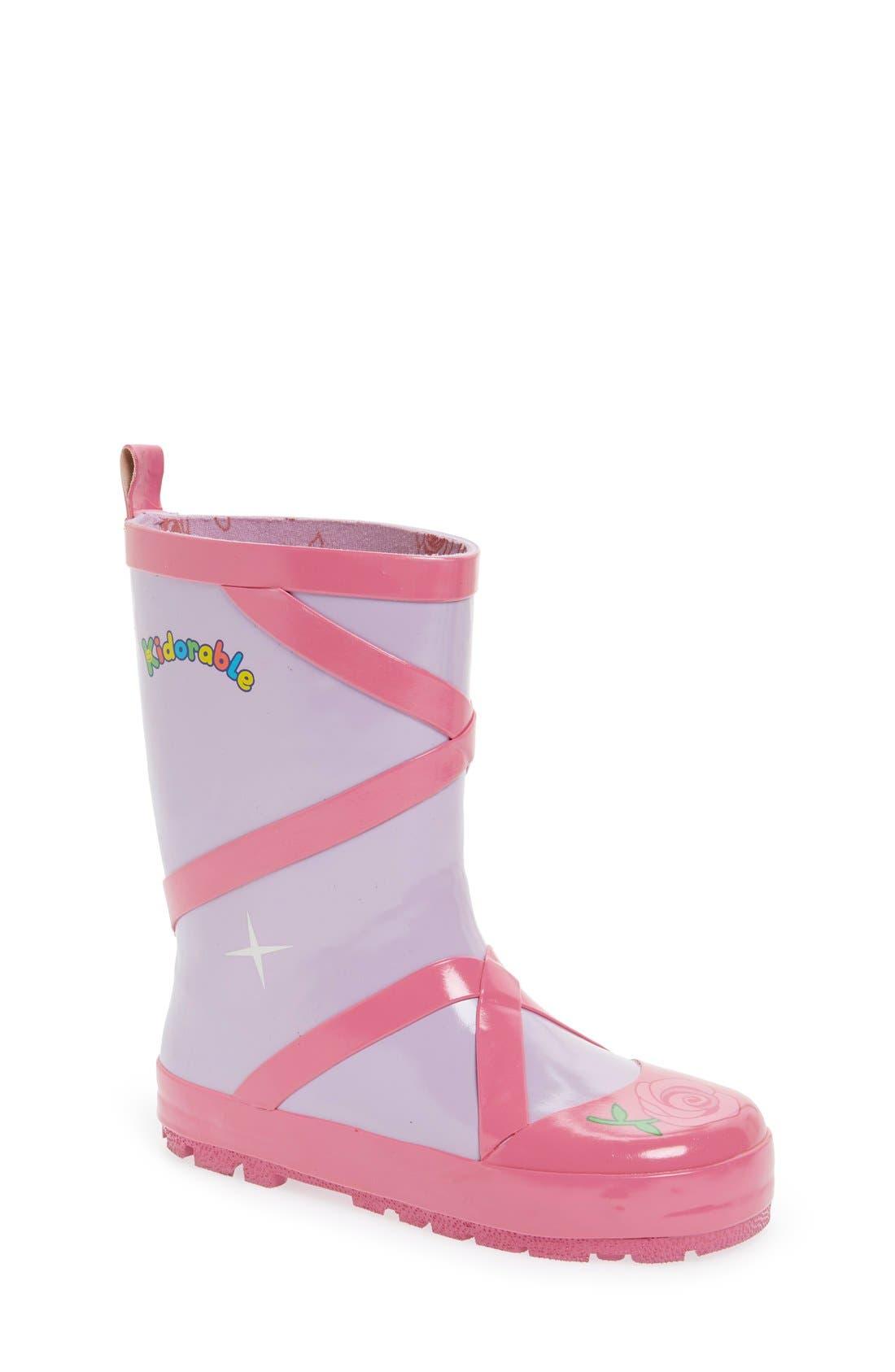 KIDORABLE Ballerina Waterproof Rain Boot