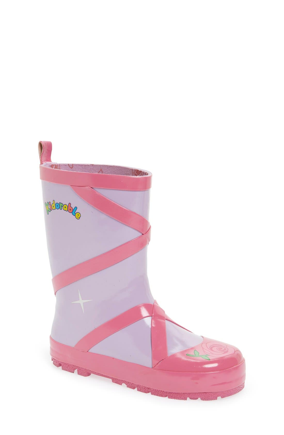 Alternate Image 1 Selected - Kidorable 'Ballerina' Waterproof Rain Boot (Walker, Toddler & Little Kid)