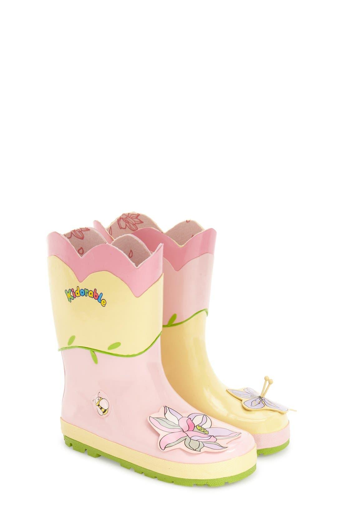 Alternate Image 1 Selected - Kidorable 'Lotus' Waterproof Rain Boot (Walker, Toddler & Little Kid)