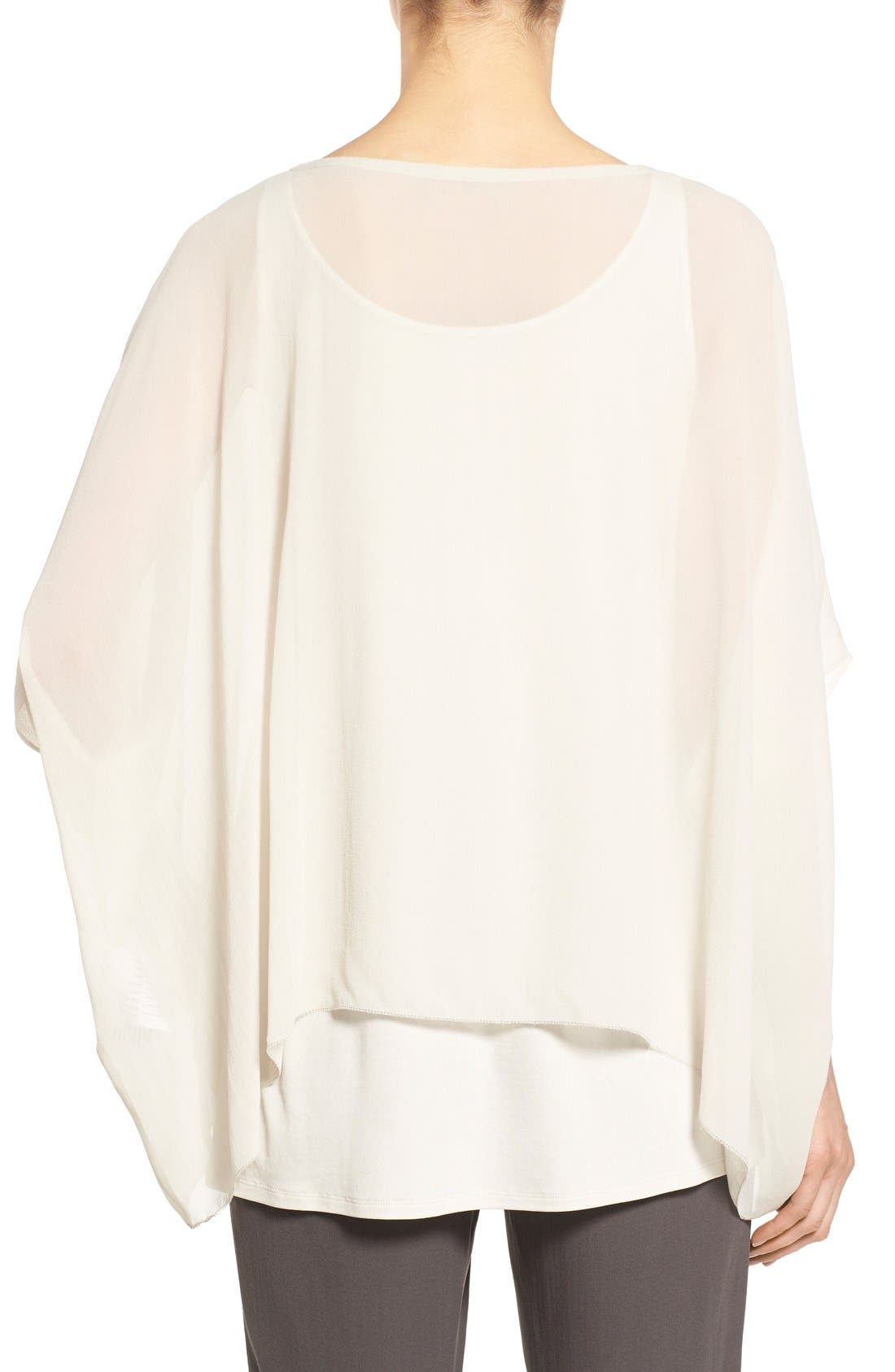 Alternate Image 2  - Eileen Fisher Sheer Silk Georgette Top (Regular & Petite)