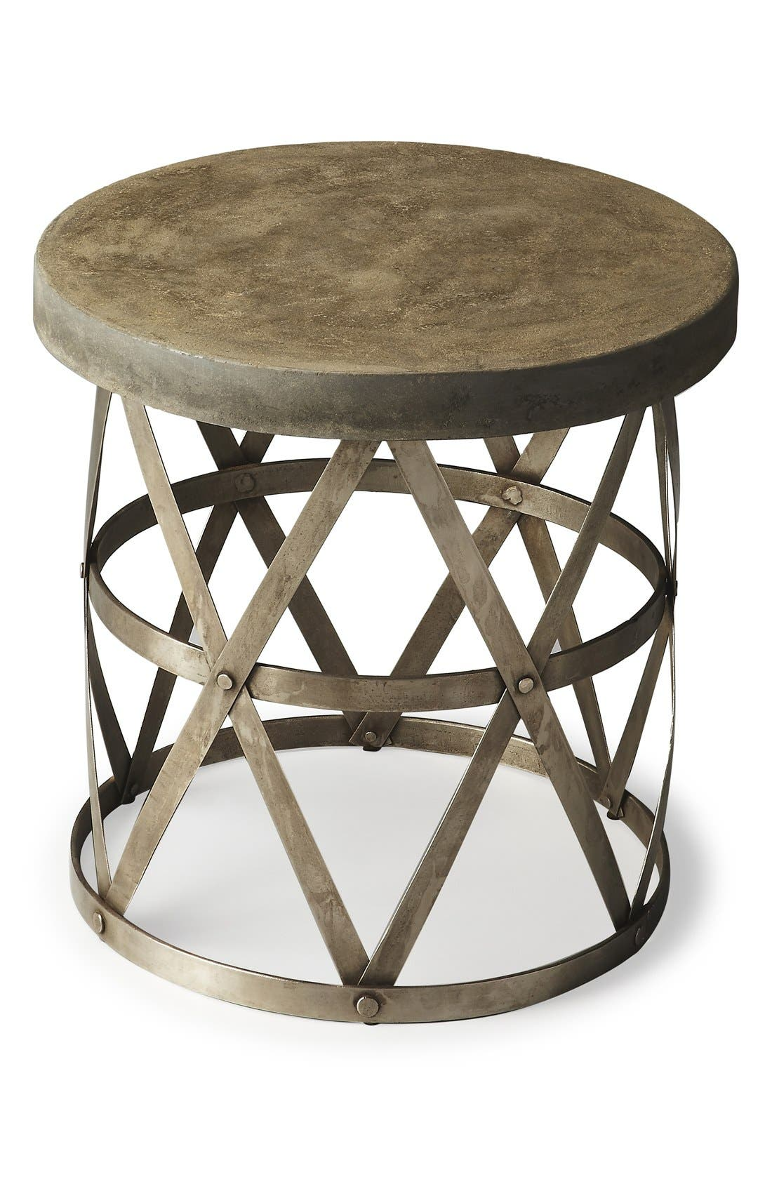Round Side Table,                             Main thumbnail 1, color,                             Grey
