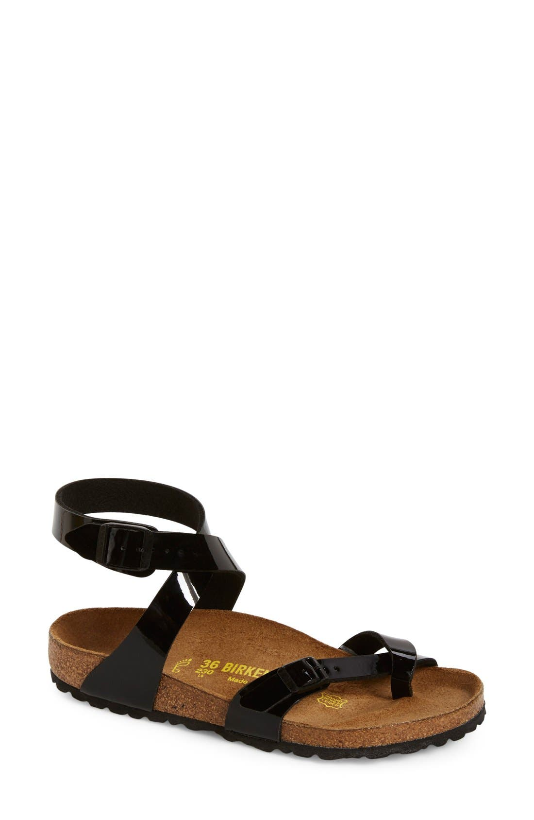 Alternate Image 1 Selected - Birkenstock 'Yara' Birko-Flor™ Ankle Strap Sandal (Women)