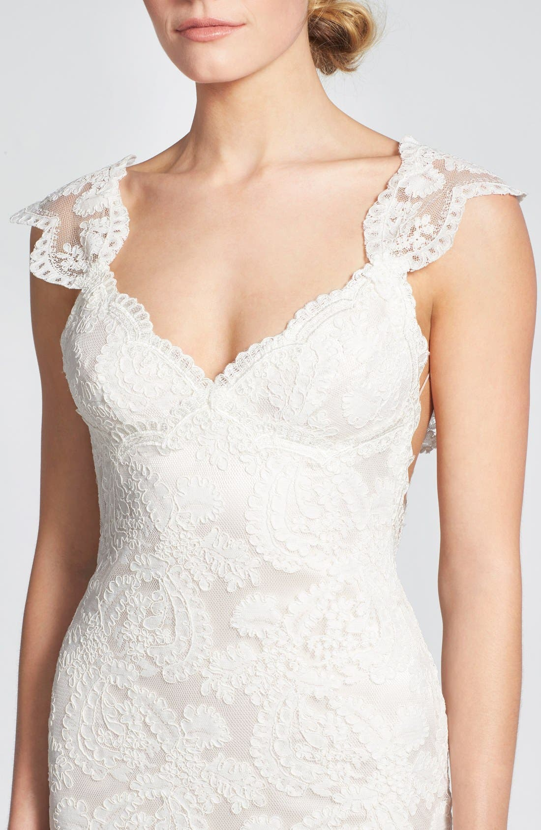 Alternate Image 4  - Katie May 'Lanai' Convertible Cap Sleeve Lace Low Back Gown