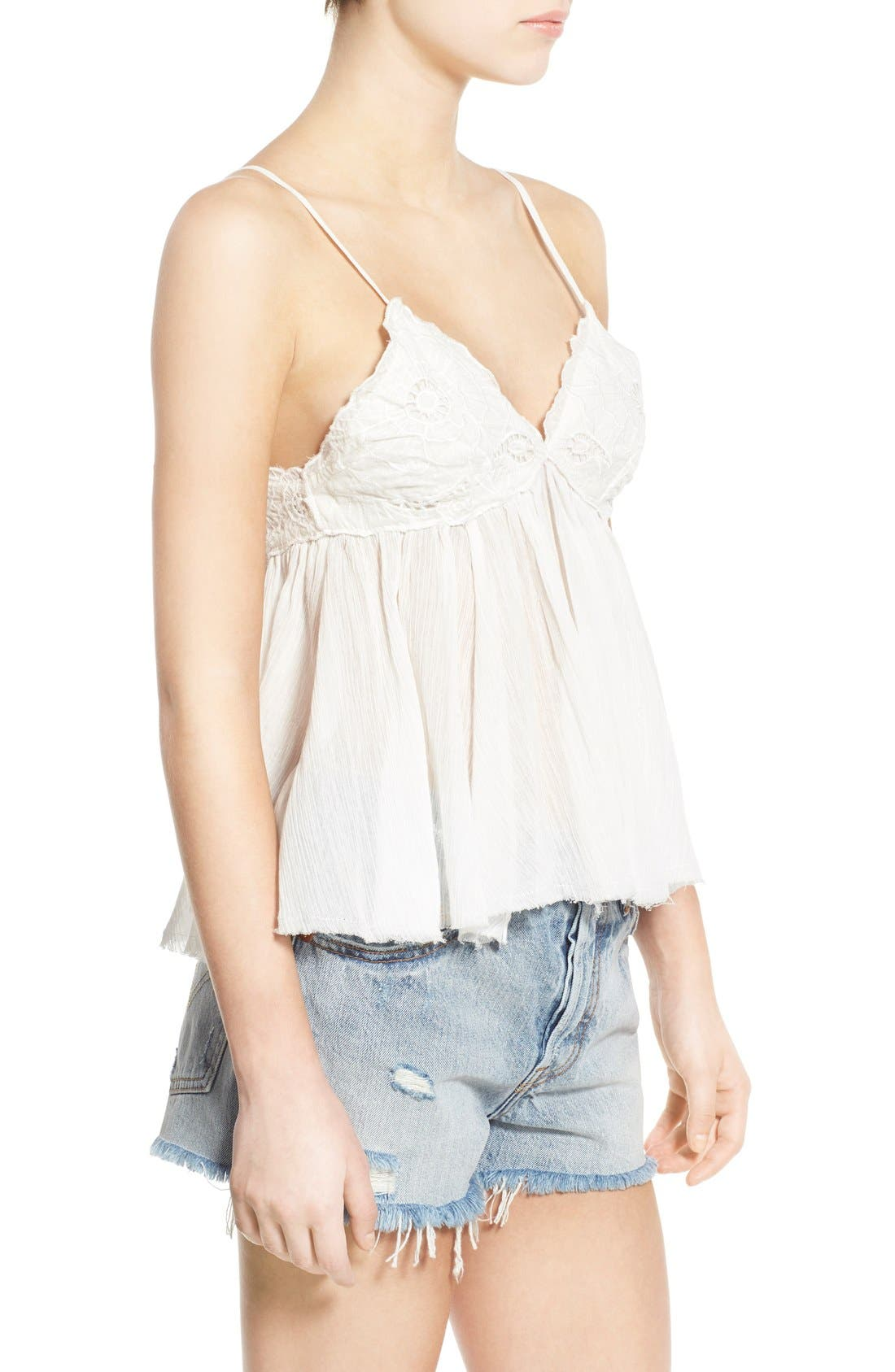 Alternate Image 3  - BP. Embroidered Babydoll Tank