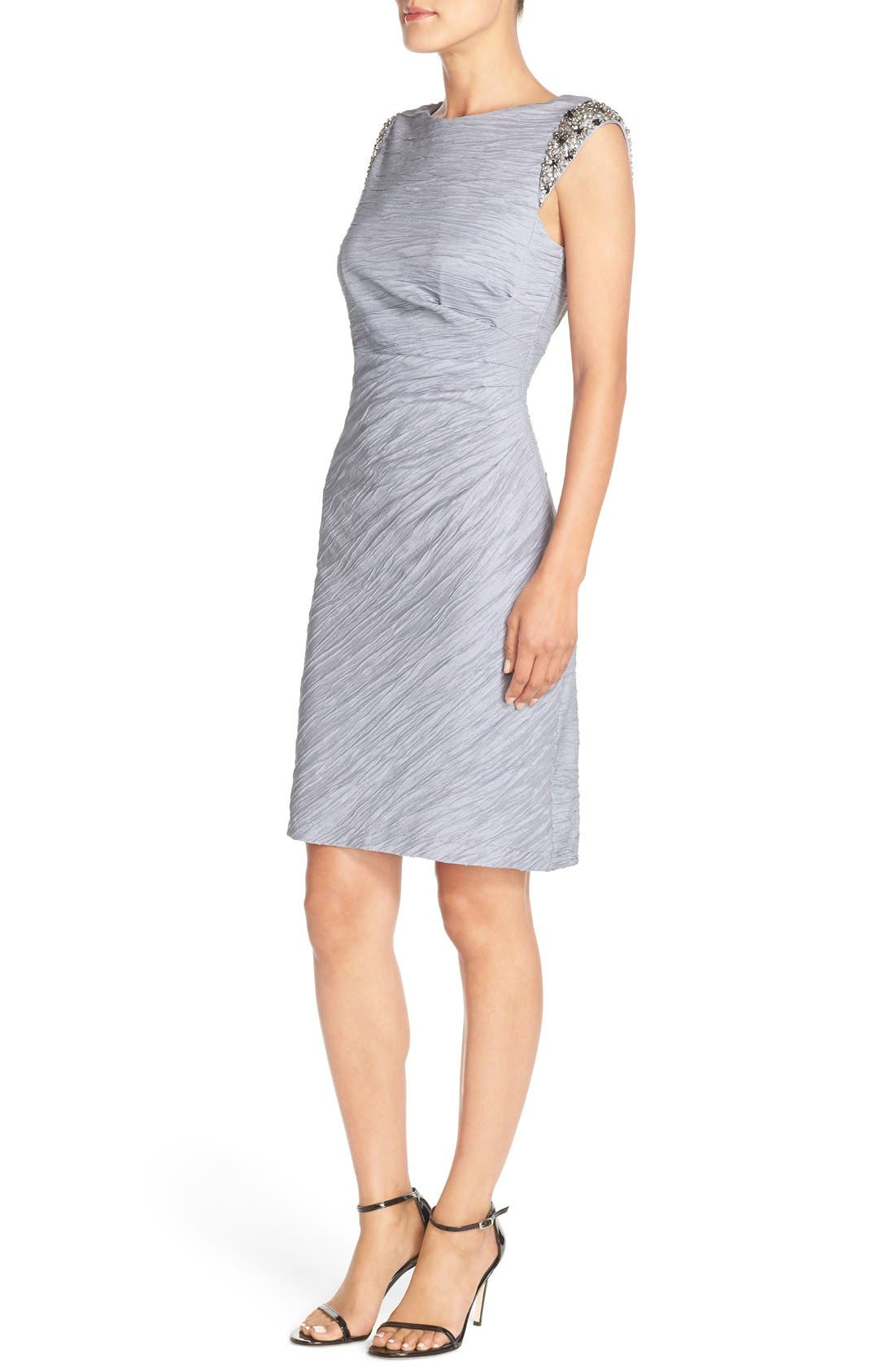 Alternate Image 3  - Eliza J Embellished Taffeta Sheath Dress