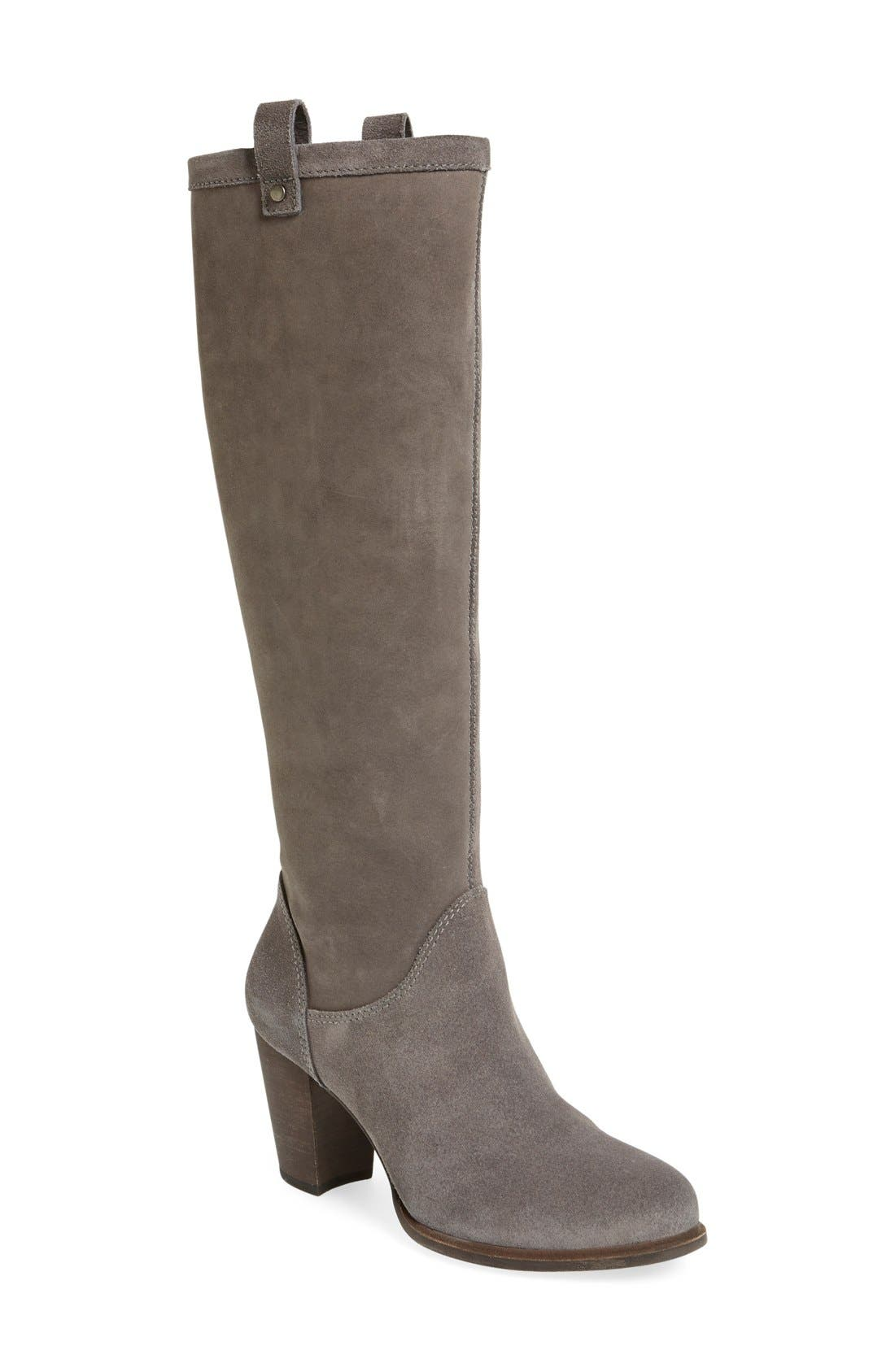 Alternate Image 1 Selected - UGG® 'Ava' Tall Water Resistant Suede Boot (Women)