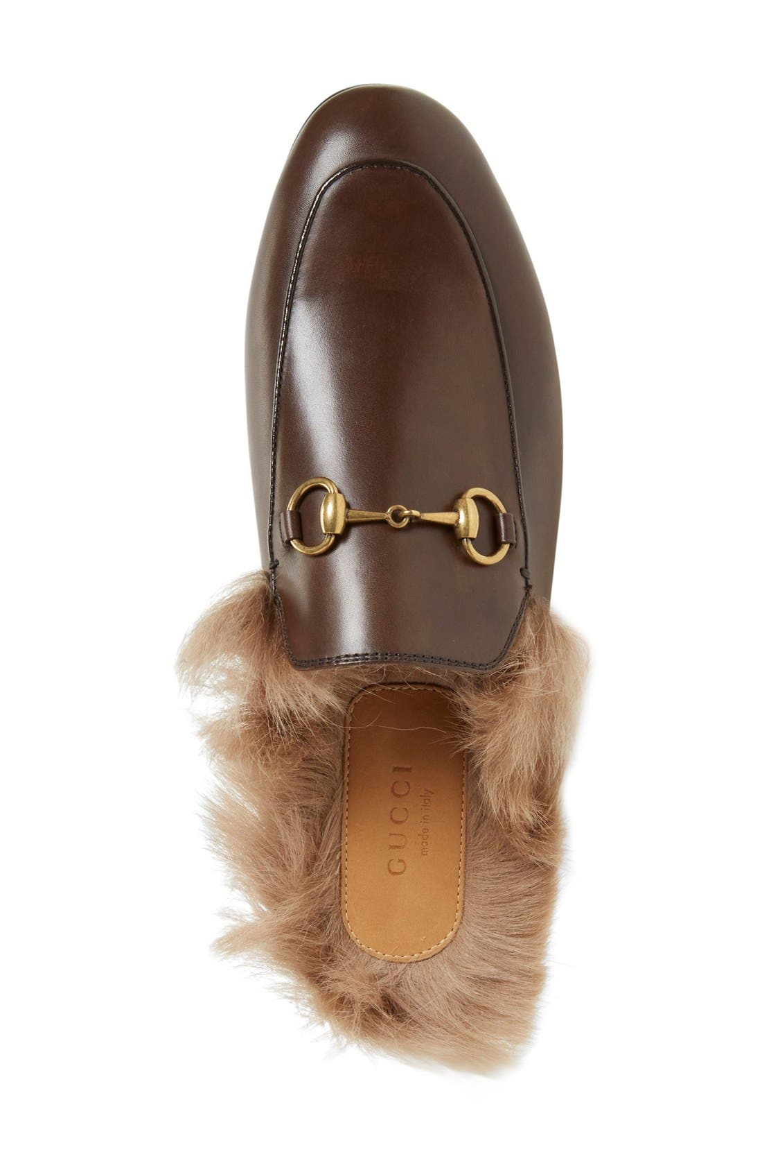 Alternate Image 3  - Gucci 'Princetown' Genuine Shearling Loafer Mule (Women)