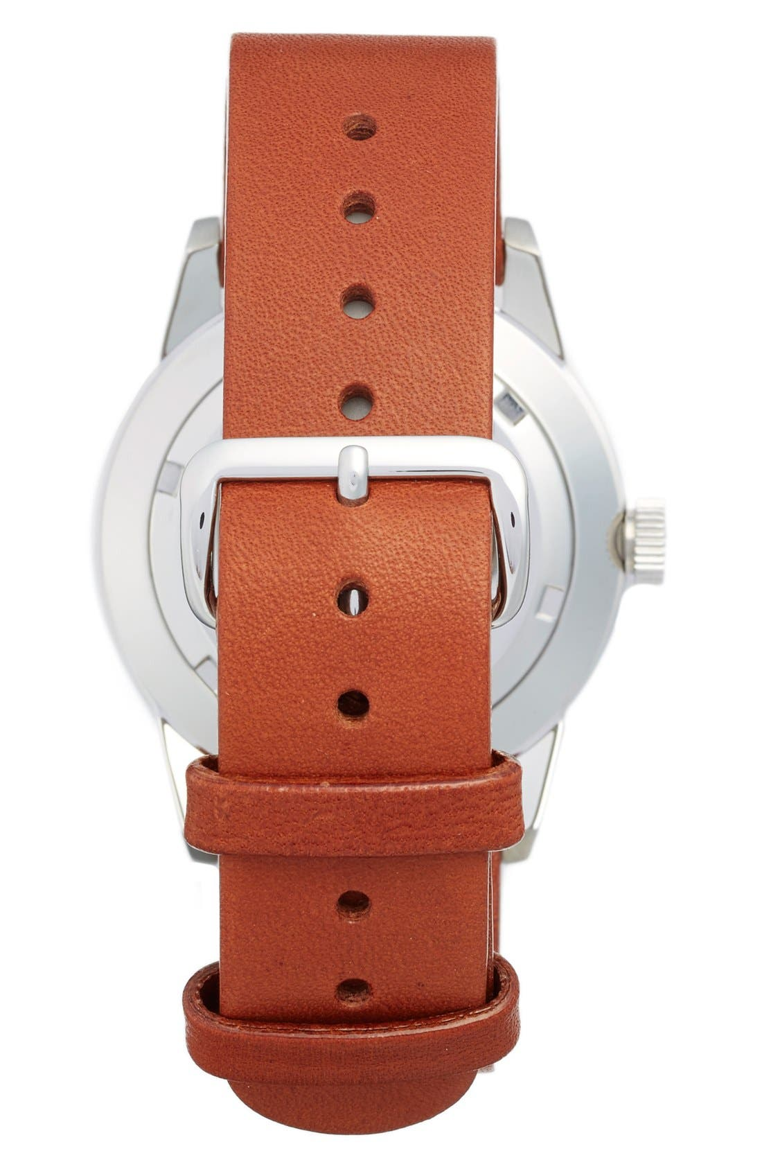 Spira Leather Strap Watch, 38mm,                             Alternate thumbnail 2, color,                             Brown