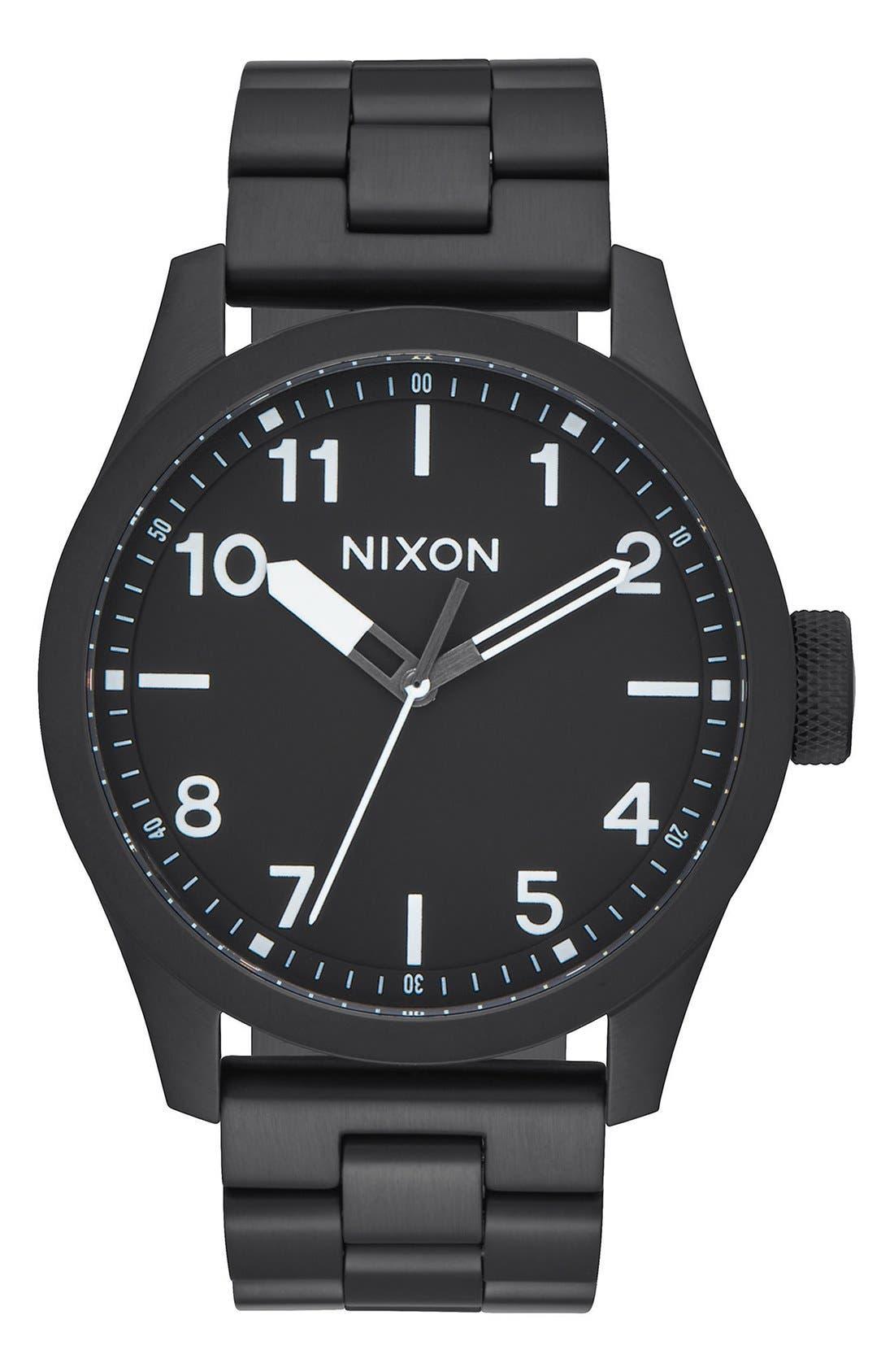 'Safari' Bracelet Watch, 43mm,                         Main,                         color, Black