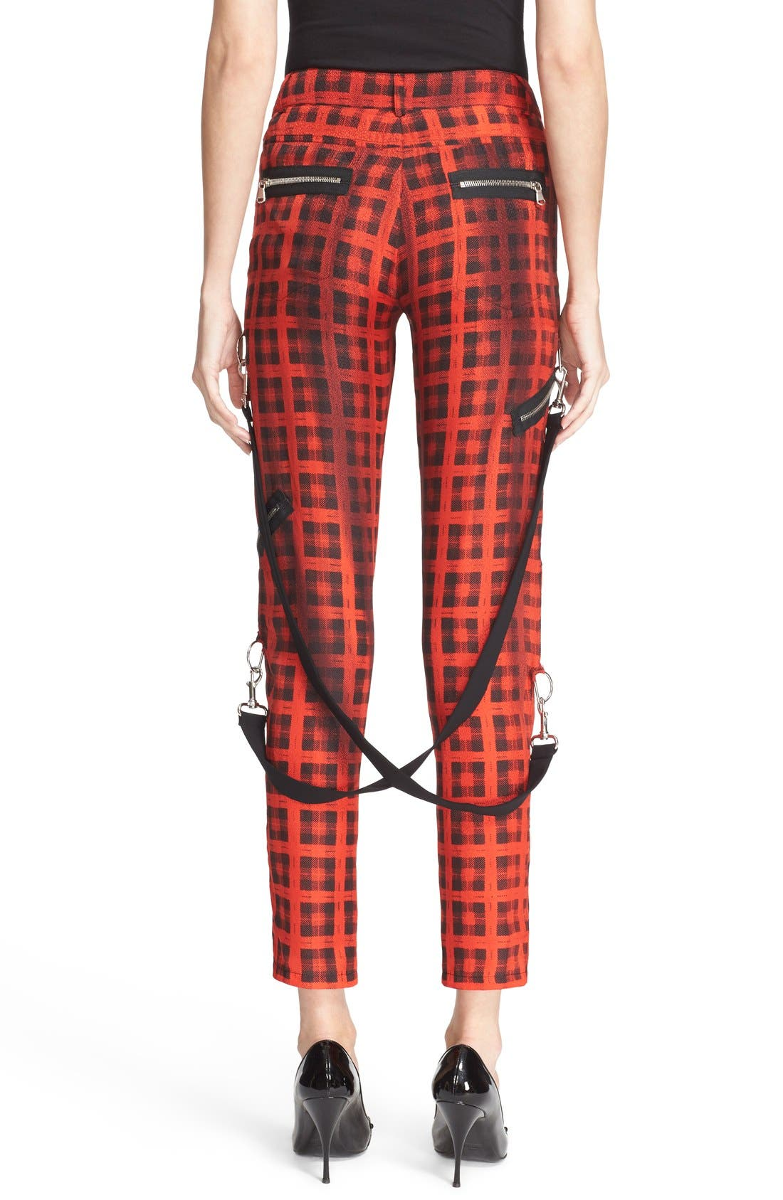 Alternate Image 2  - Moschino Plaid Print Ankle Pants with Detachable Suspenders