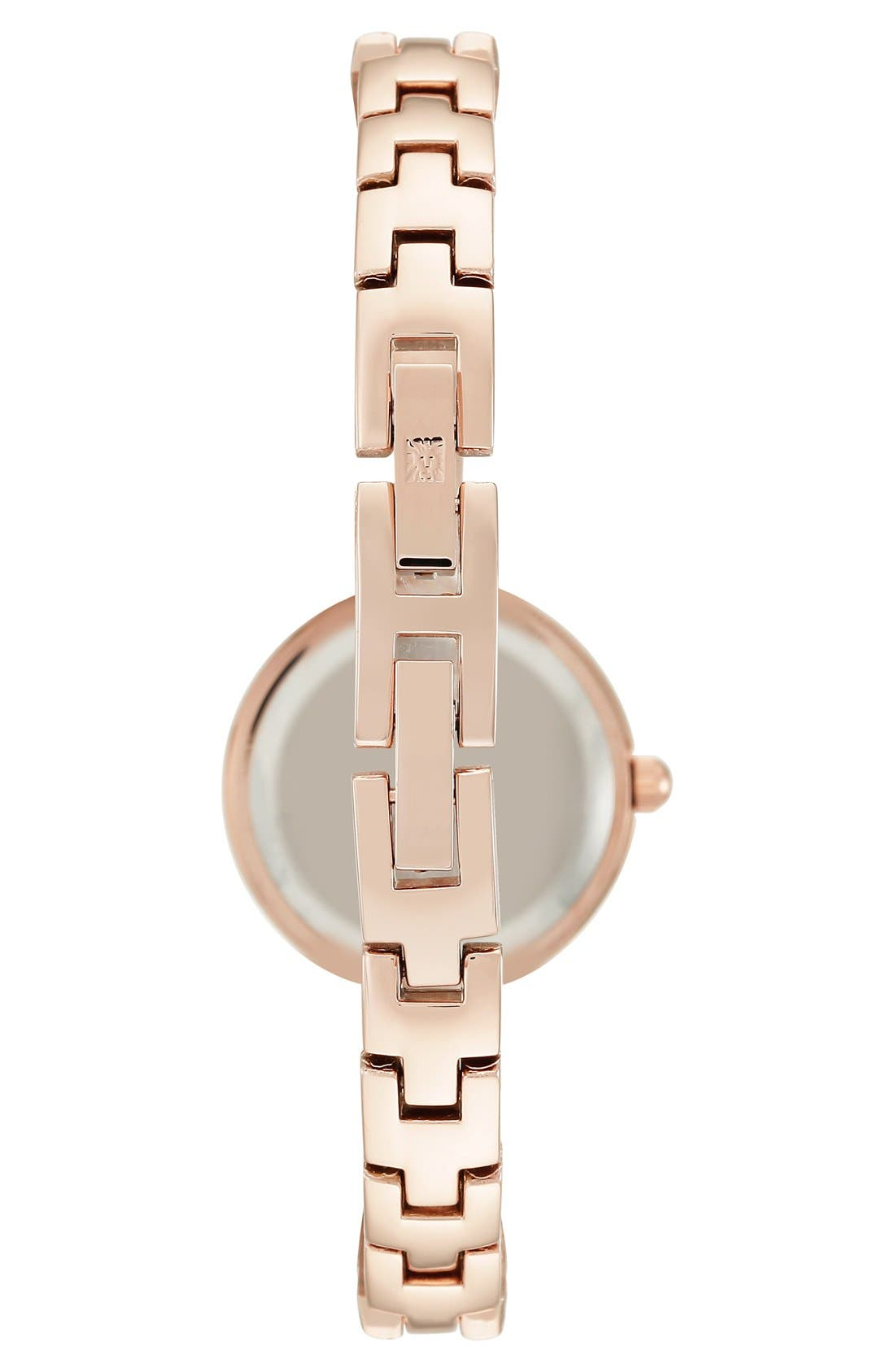Diamond Dial Bangle Watch, 24mm,                             Alternate thumbnail 2, color,                             Rose Gold/ Mother Of Pearl
