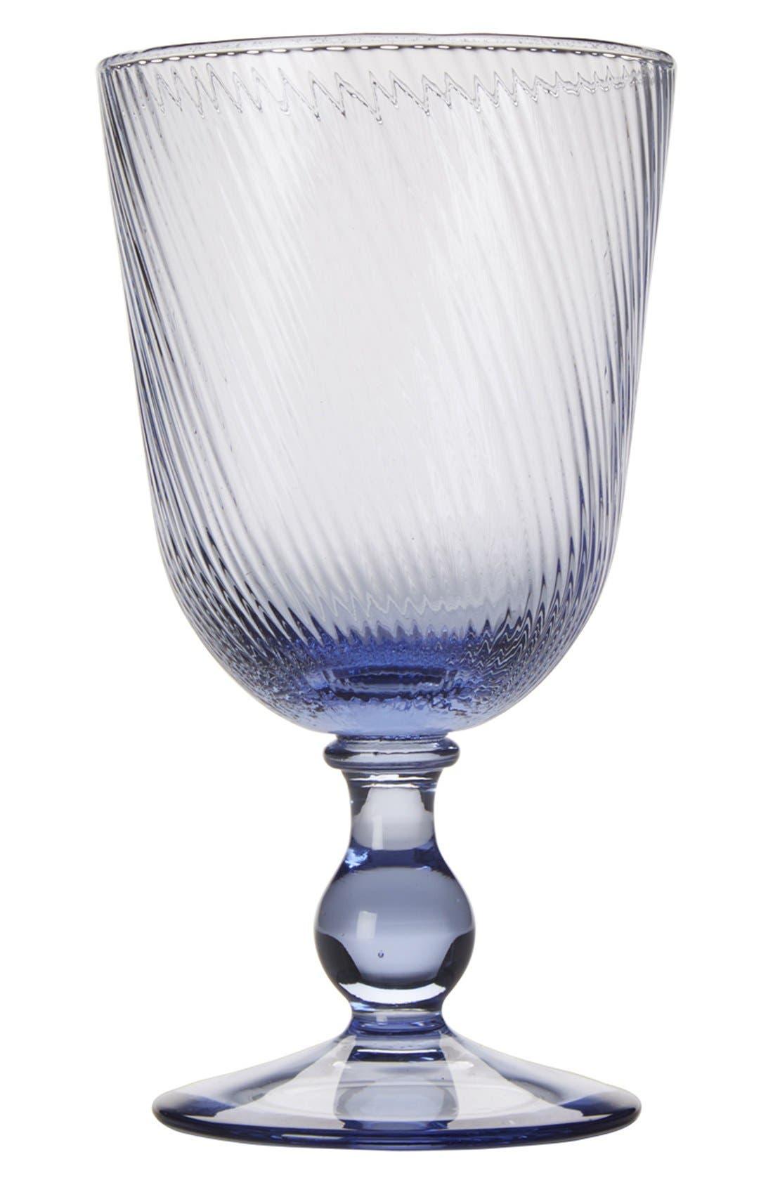 'Arabella' Blue Glass Goblet,                         Main,                         color, Blue
