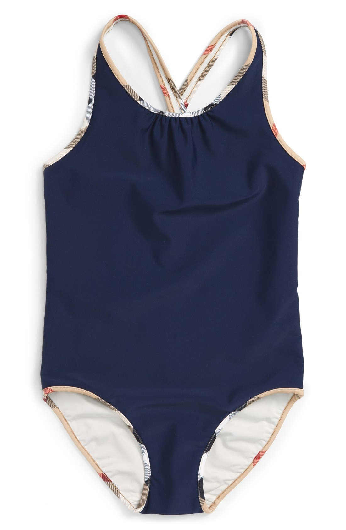 Alternate Image 1 Selected - Burberry 'Beadnell' One-Piece Swimsuit (Little Girls & Big Girls)